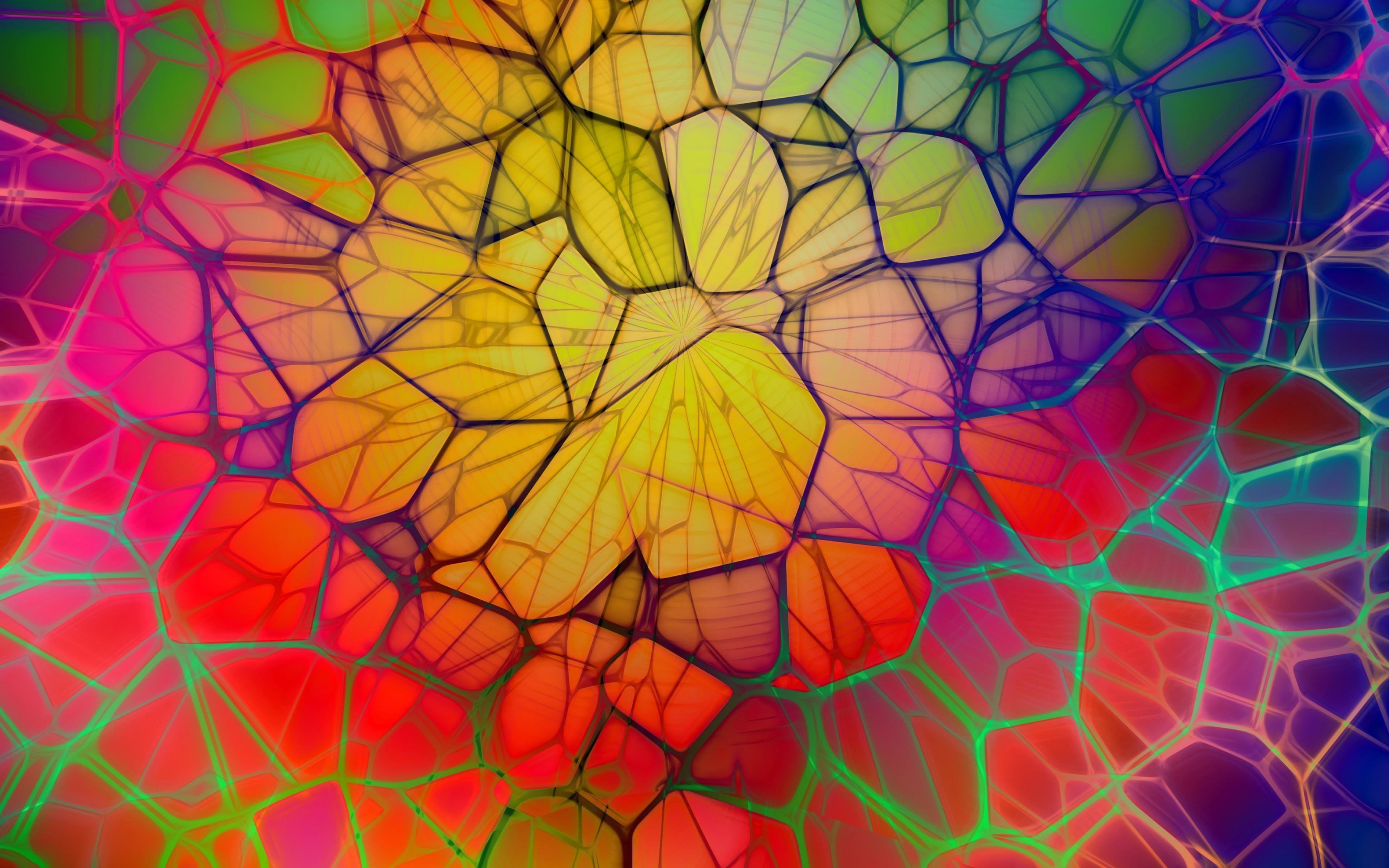 Fondos de pantalla Lineas geometricas en arcoiris