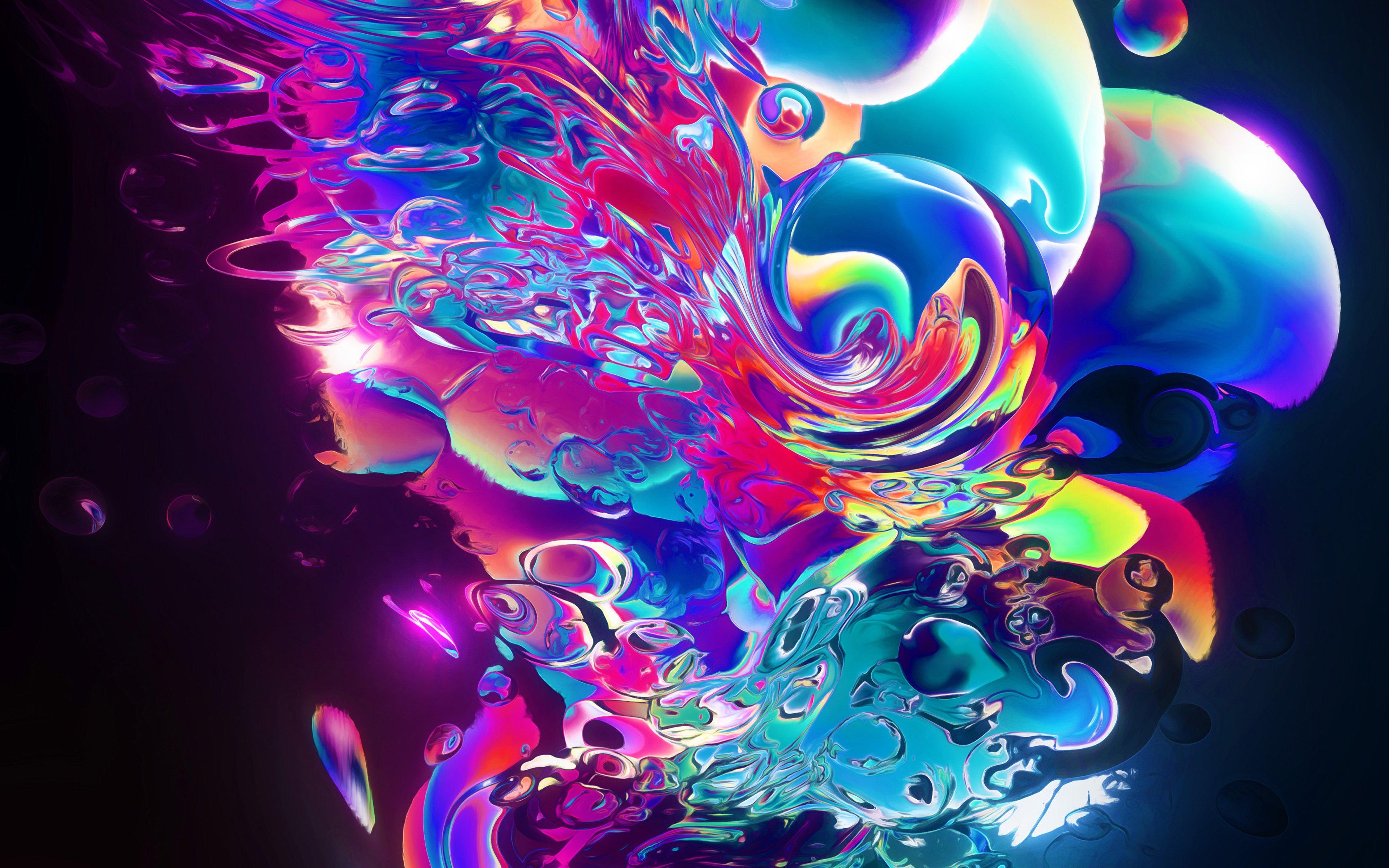 Fondos de pantalla Liquido de color abstracto