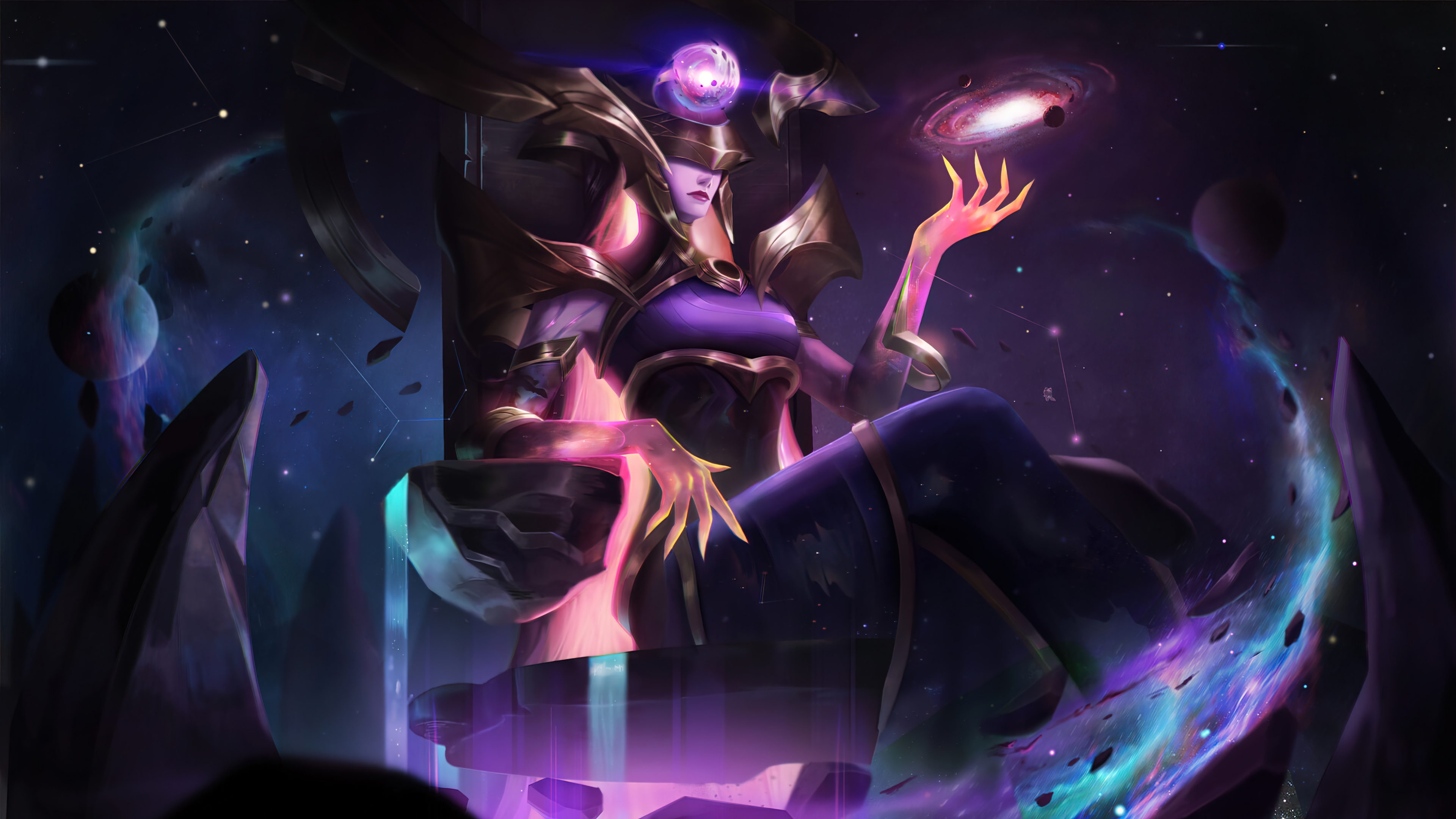 Wallpaper Lissandra dark star League of Legends