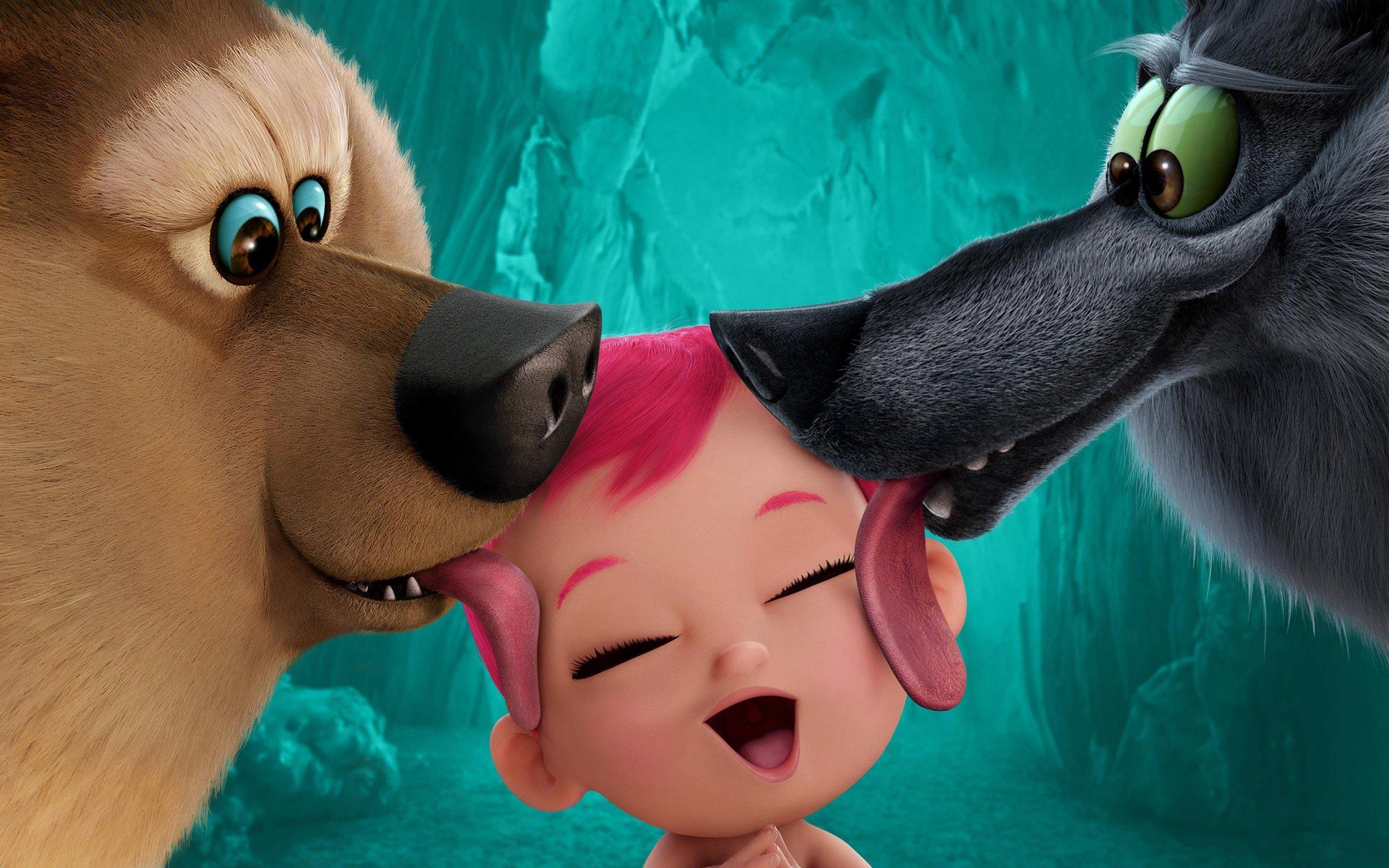 Fondos de pantalla Lobos y bebé de película La cigüeña