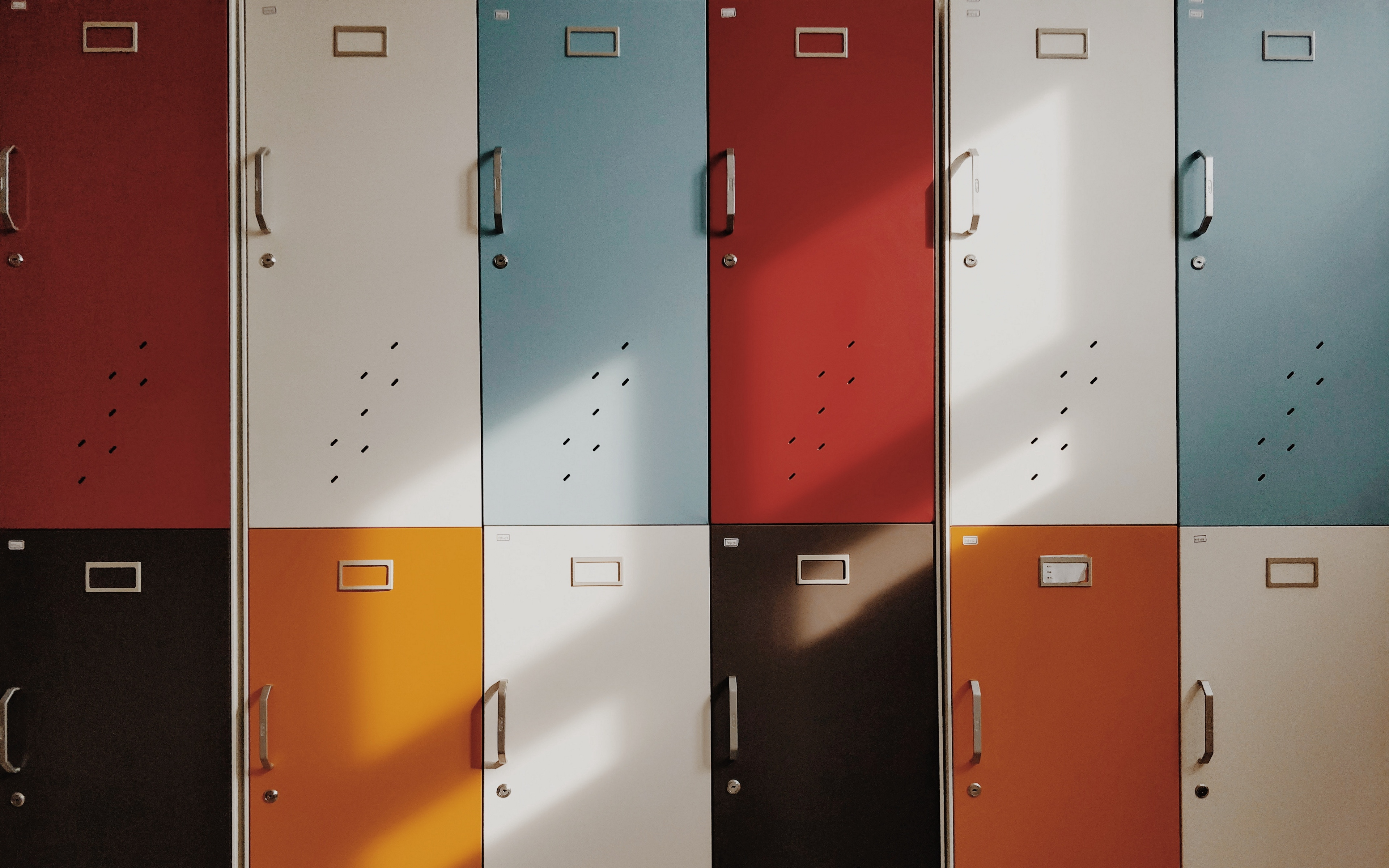 Fondos de pantalla Lockers de colores