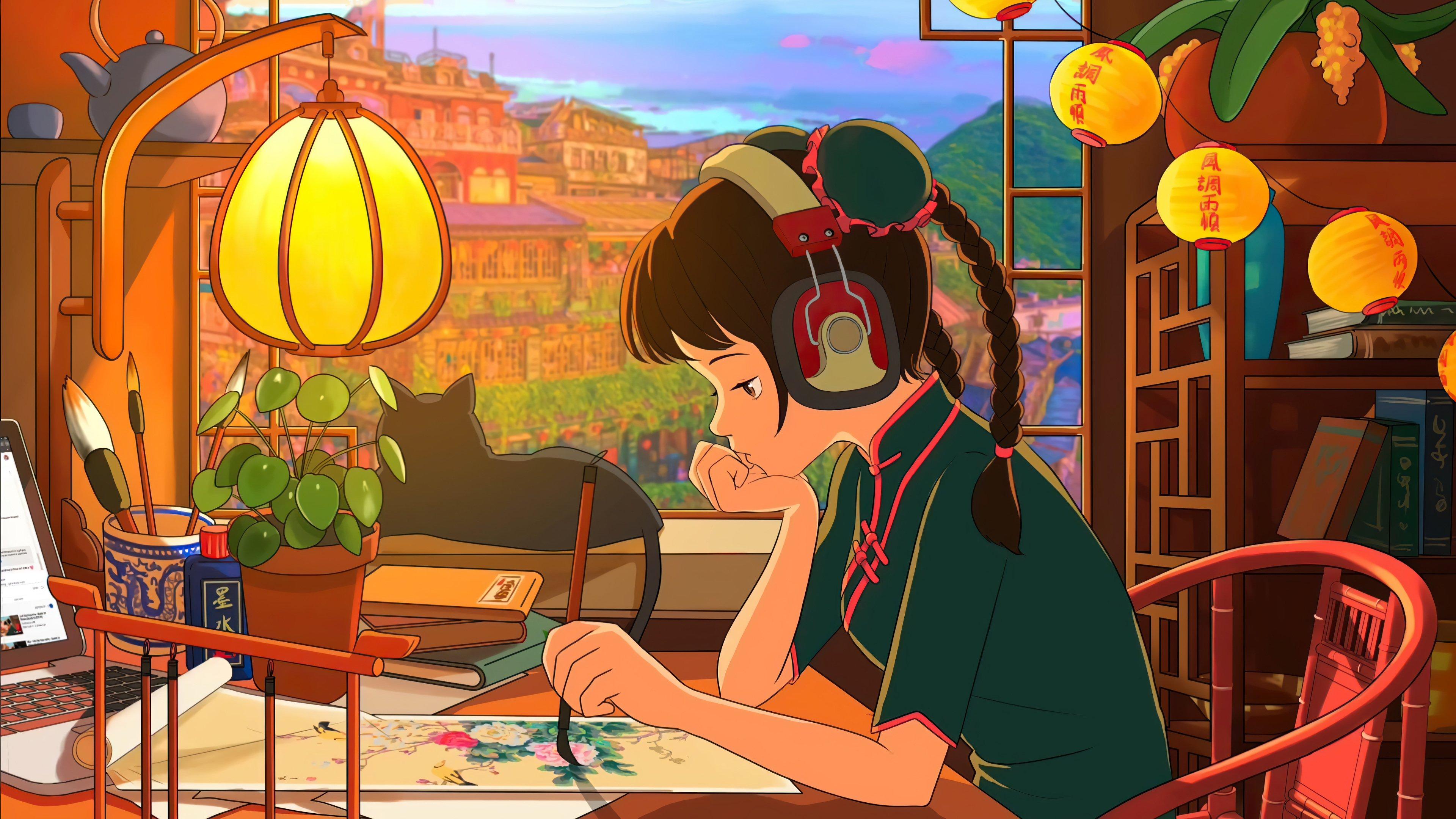 Fondos de pantalla Lofi estilo asiático