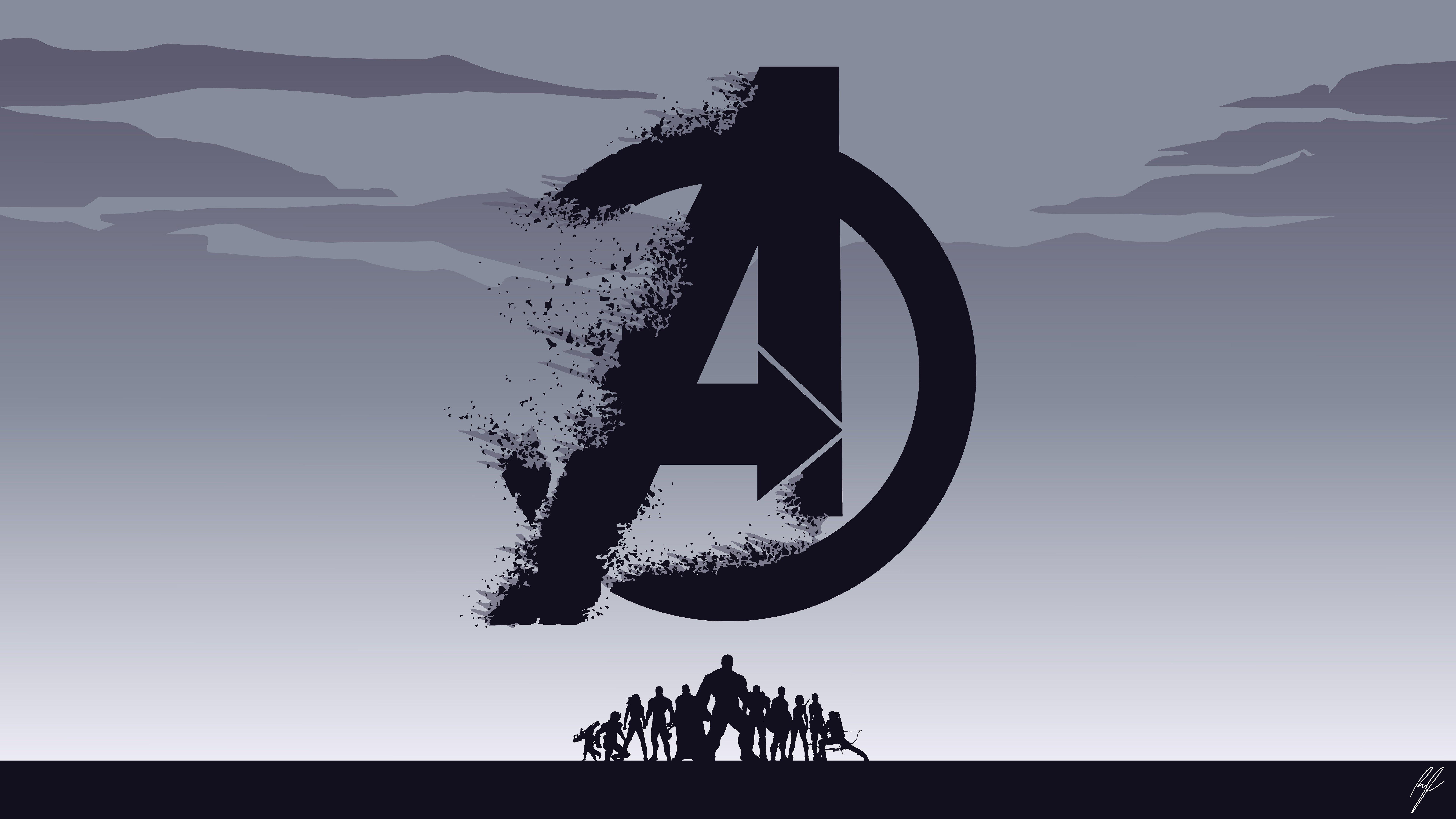 Fondos de pantalla Logo Avengers Endgame