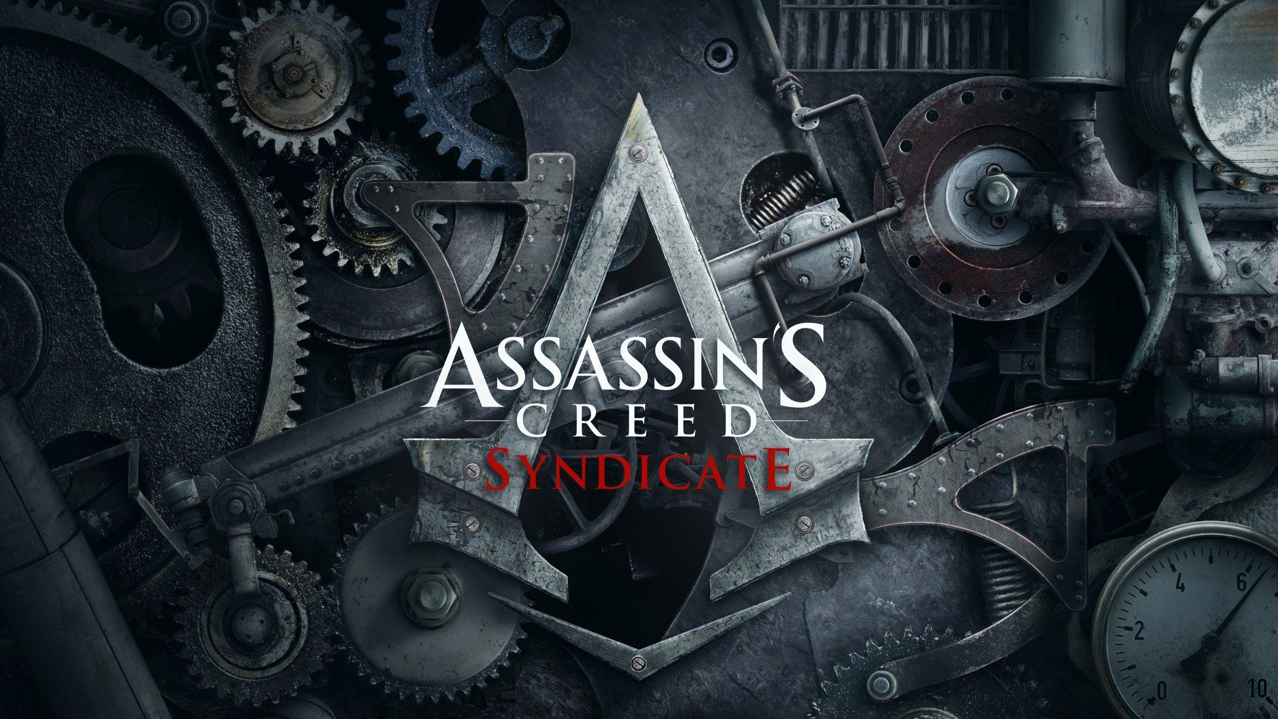 Wallpaper Assassins Creed Syndicete logo