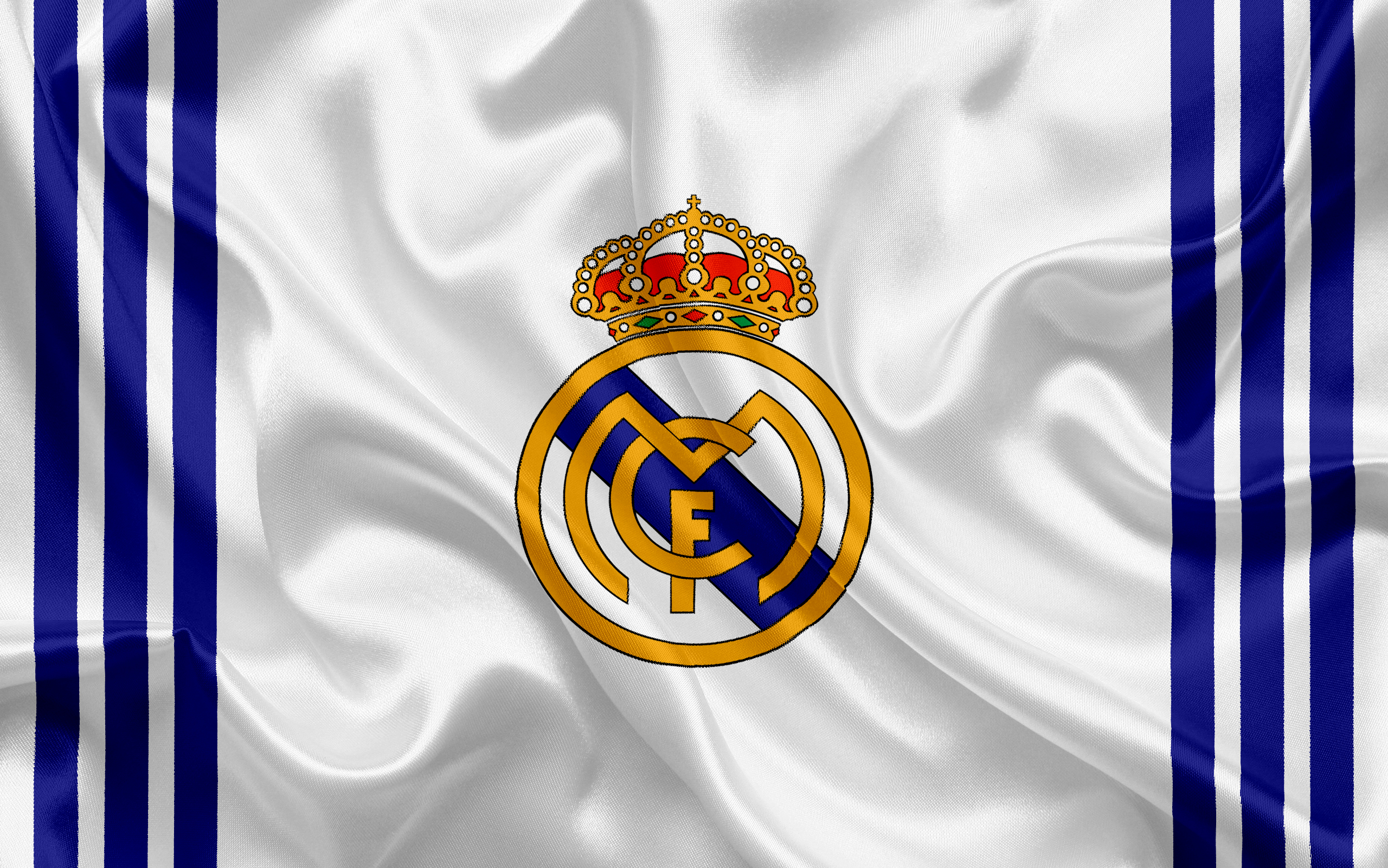 Wallpaper Real Madrid Logo in flag