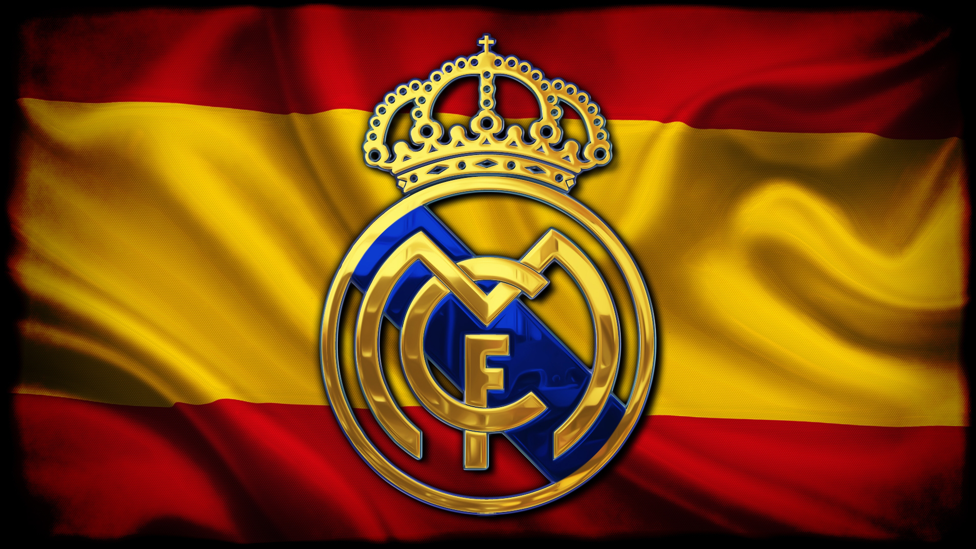 Fondos de pantalla Logo de Real Madrid en bandera de España
