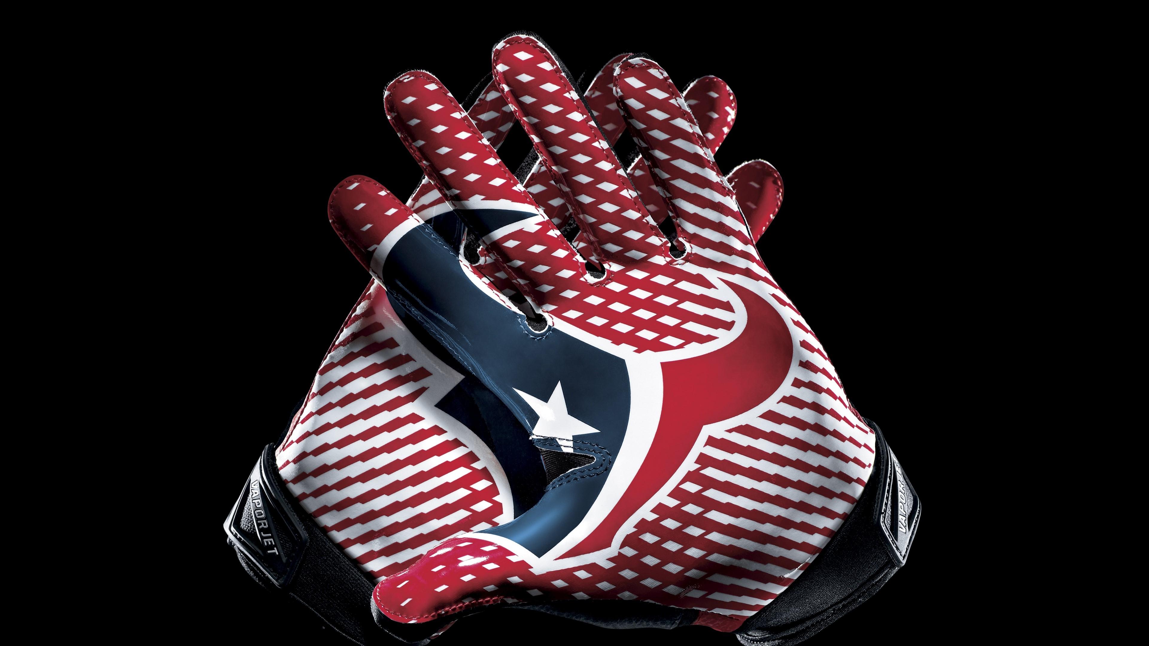 Fondo de pantalla de Logo de Texas en guantes de futbol Imágenes