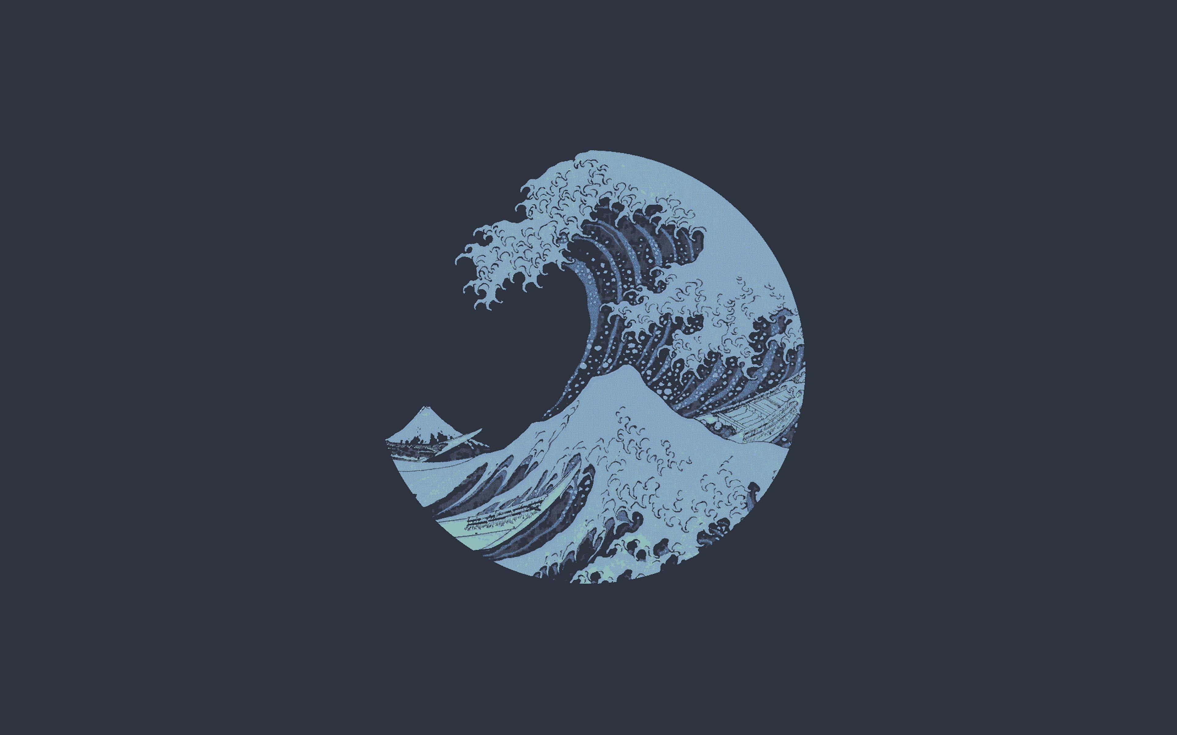Wallpaper Minimalist waves logo
