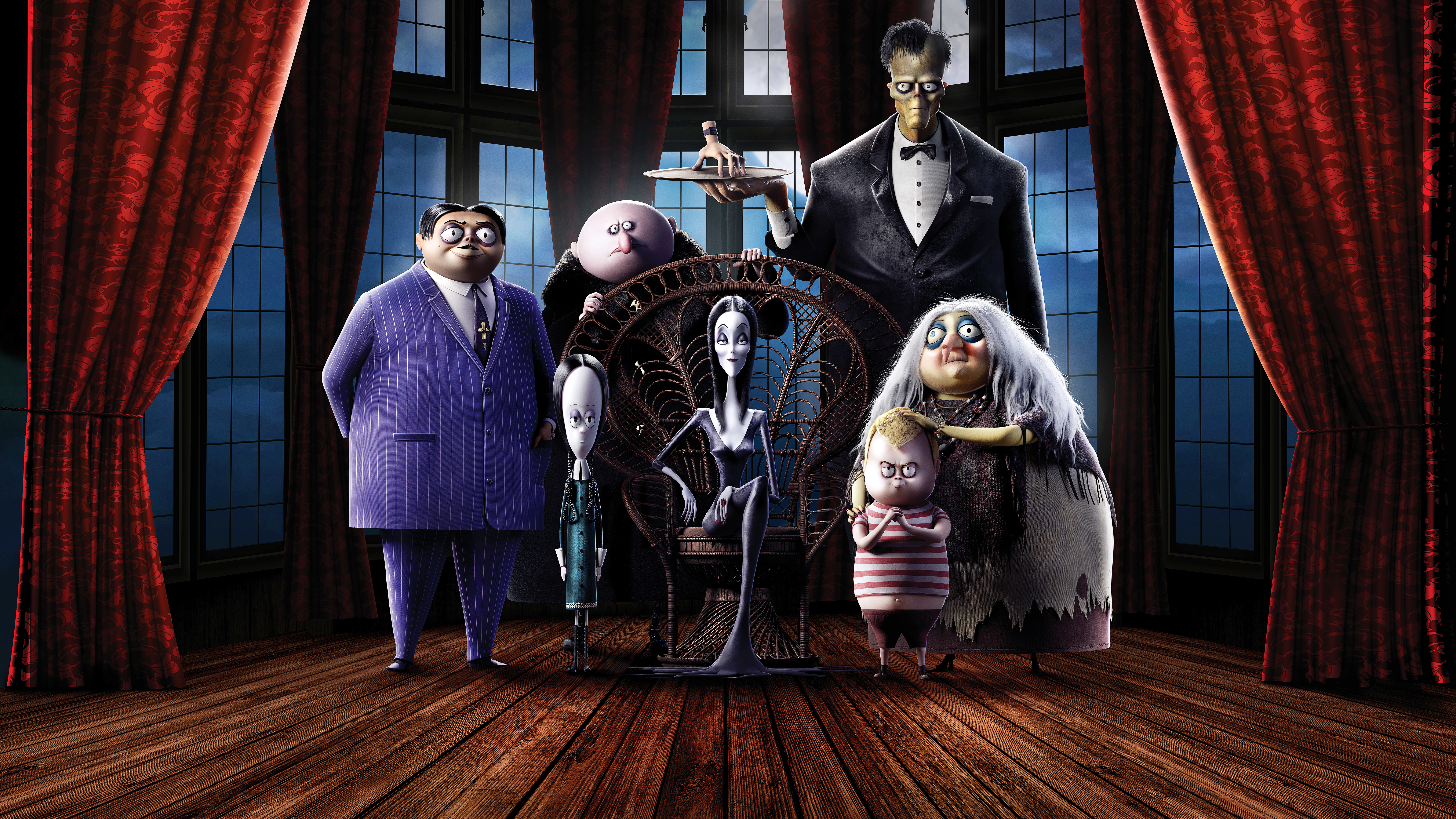 Wallpaper The Addams family animated
