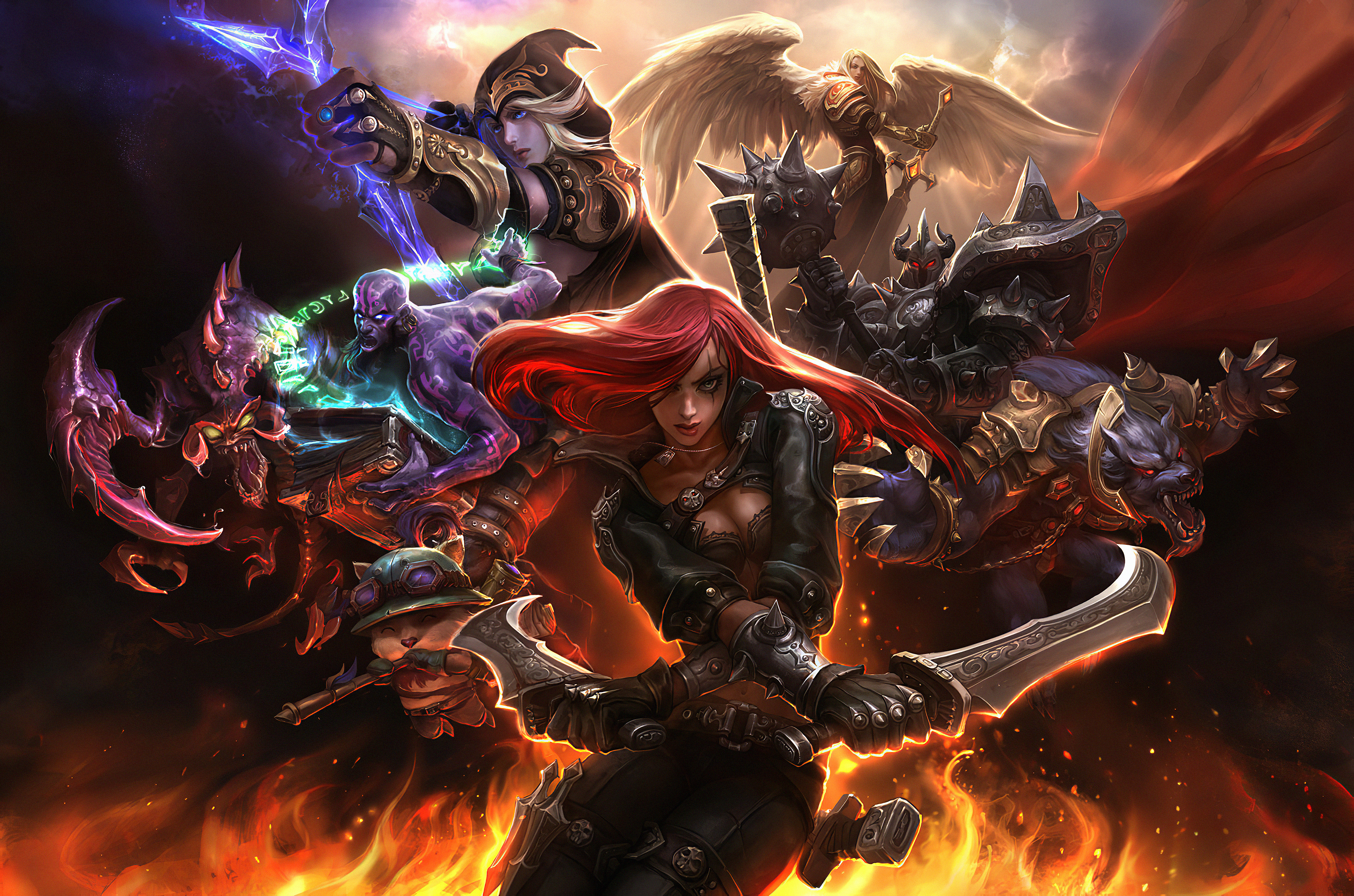 Wallpaper The Characters from League of legends