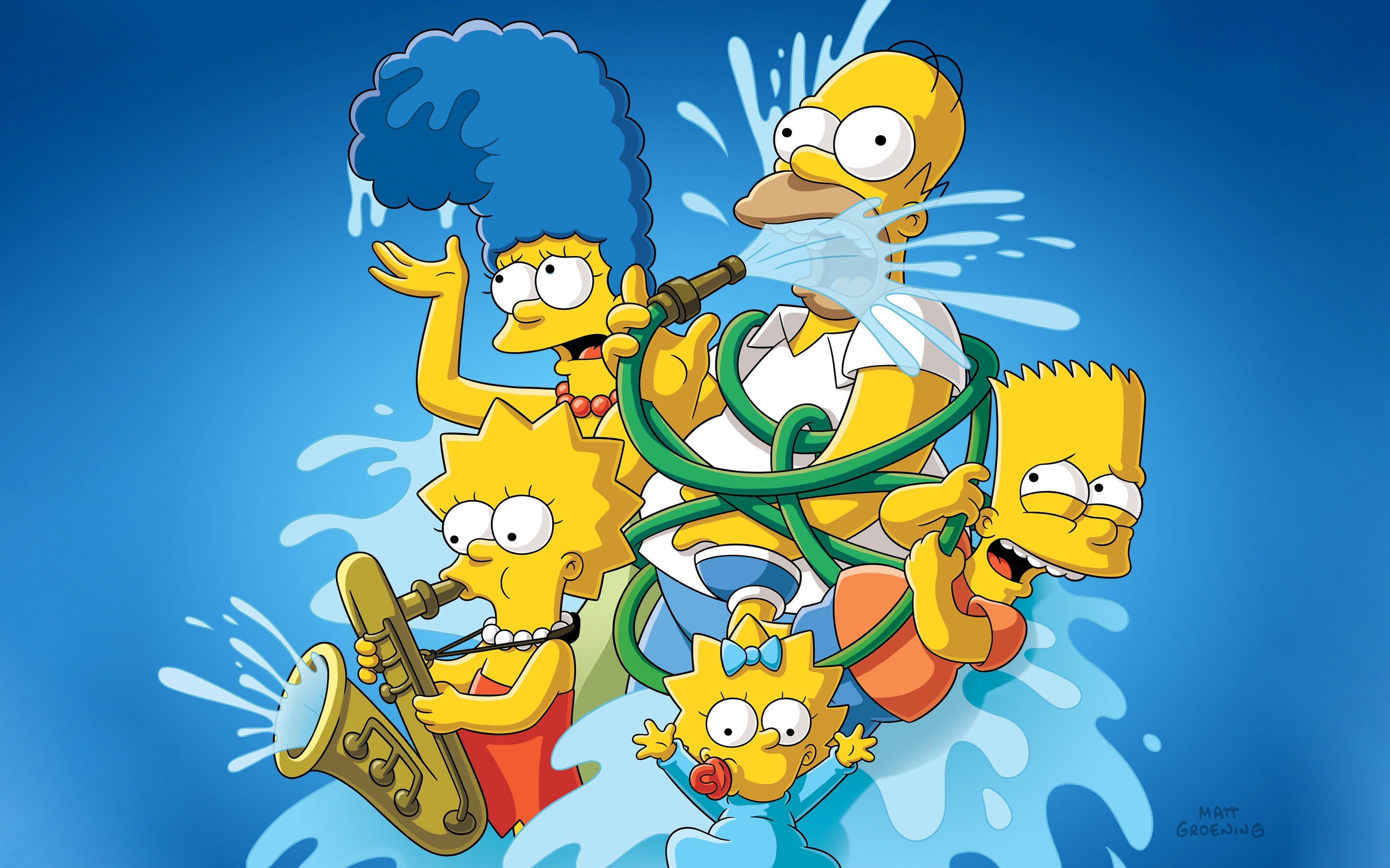 Fondos de pantalla Los Simpsons en agua