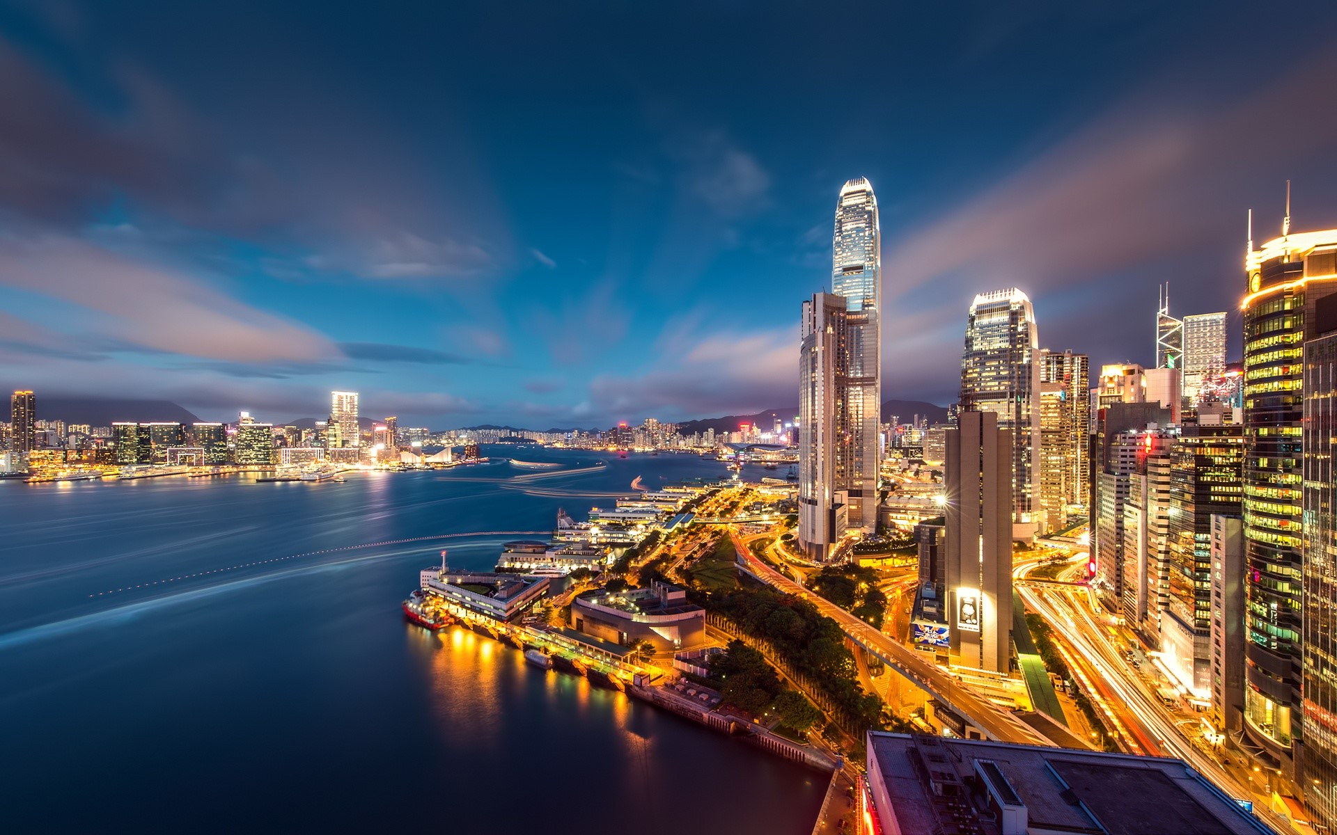 Wallpaper Lights of Hong Kong