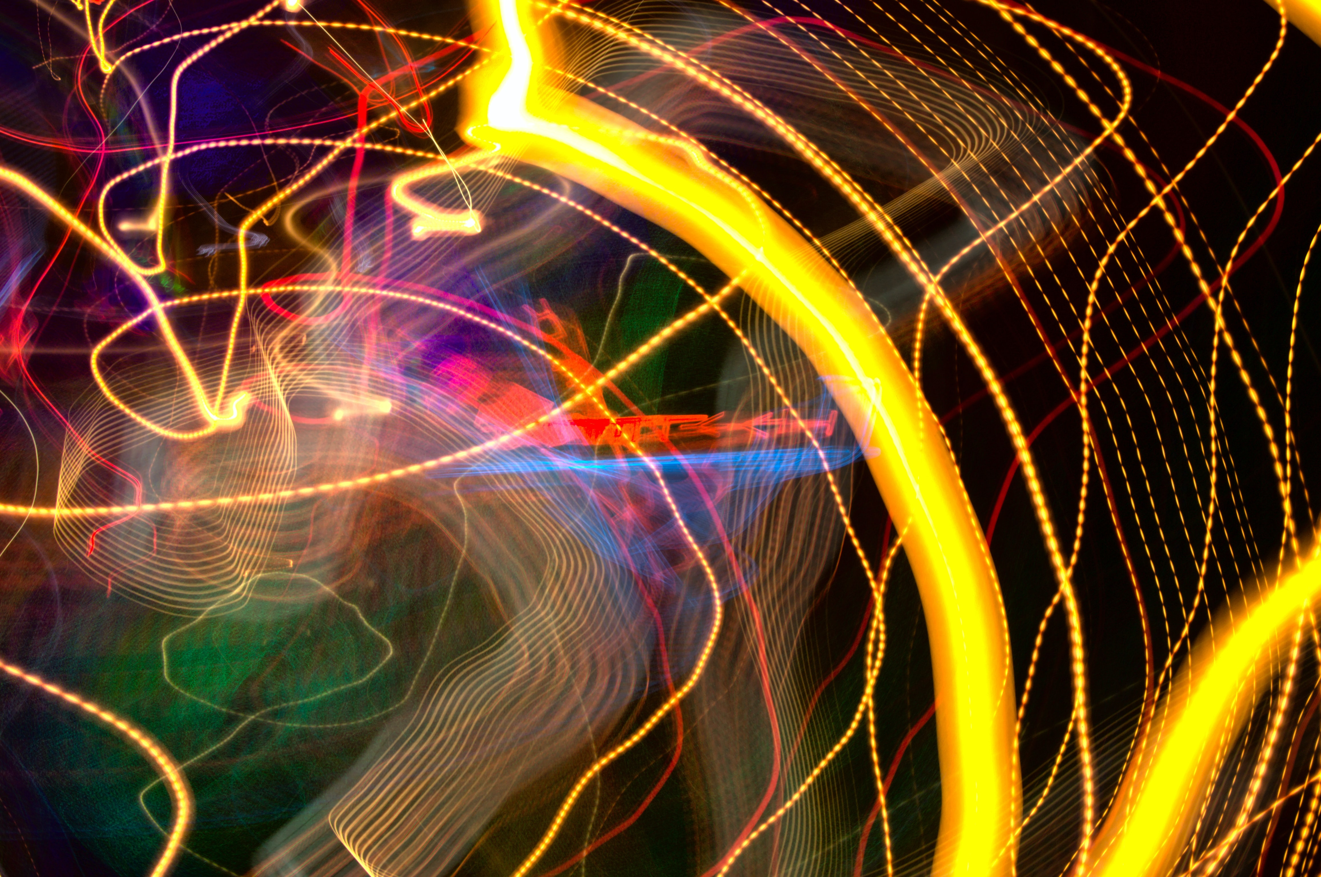 Fondos de pantalla Luces neon en movimiento
