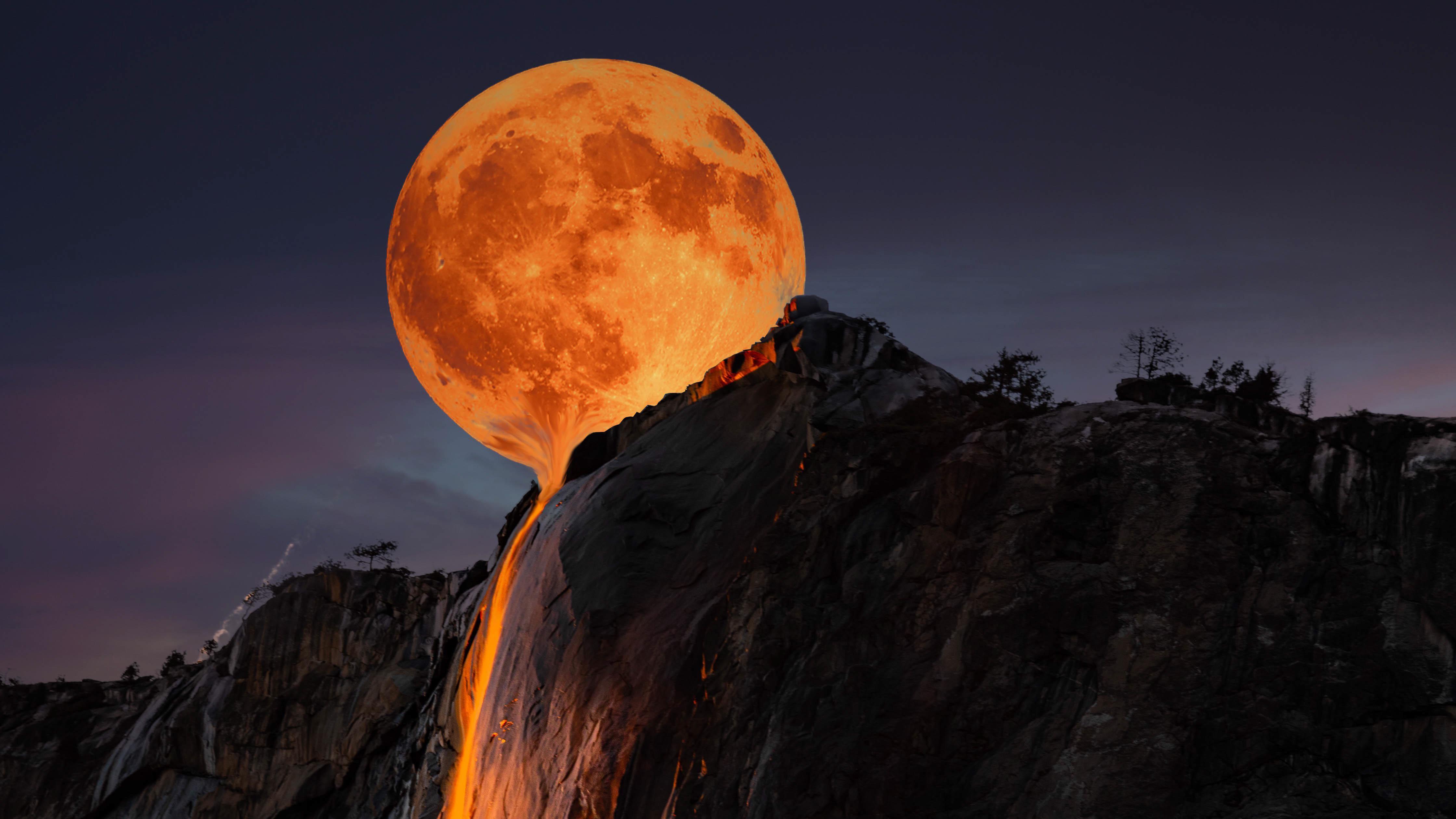 Fondos de pantalla Luna derritiéndose en Yosemite