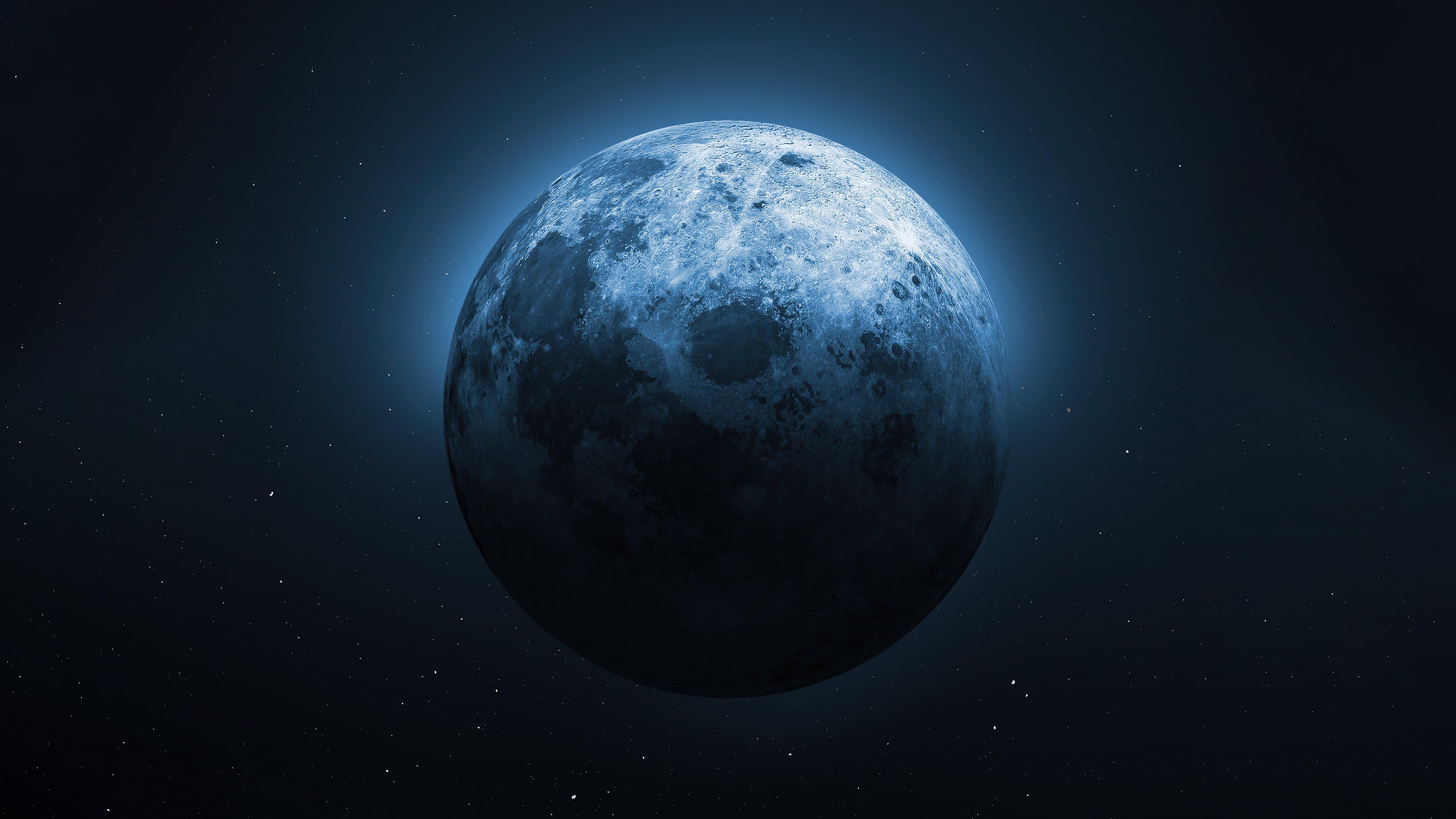 Fondos de pantalla Luna medio iluminada