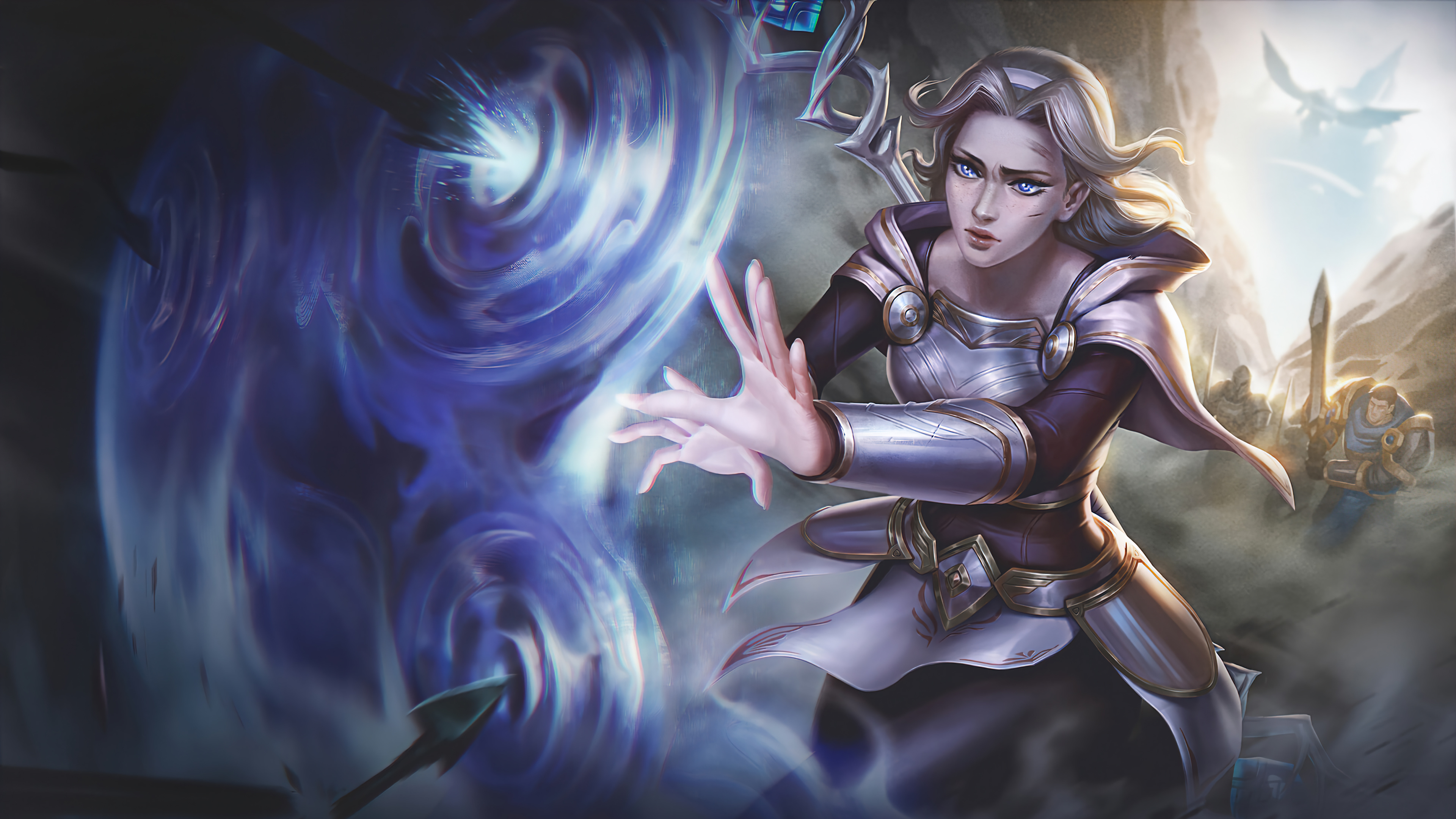 Wallpaper Lux League of Legends Art