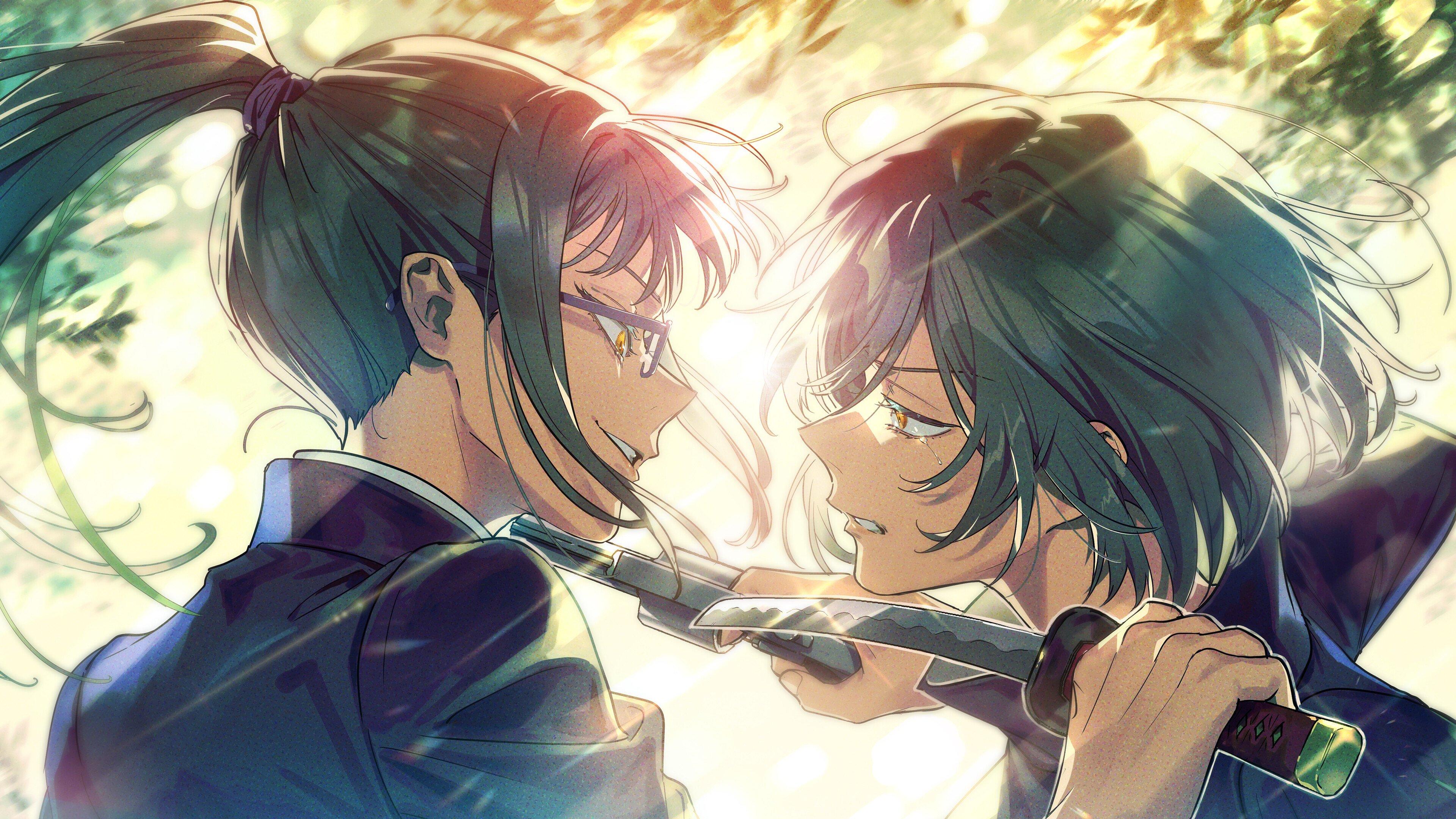 Fondos de pantalla Anime Maki Zenin vs Mai Zenin de Jujutsu Kaisen