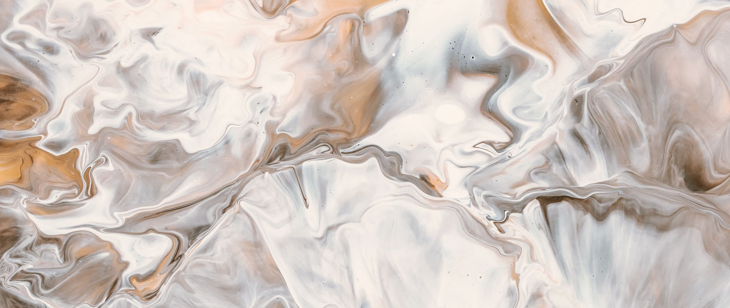 Fondos de pantalla Manchas de pintura liquida café y blanca