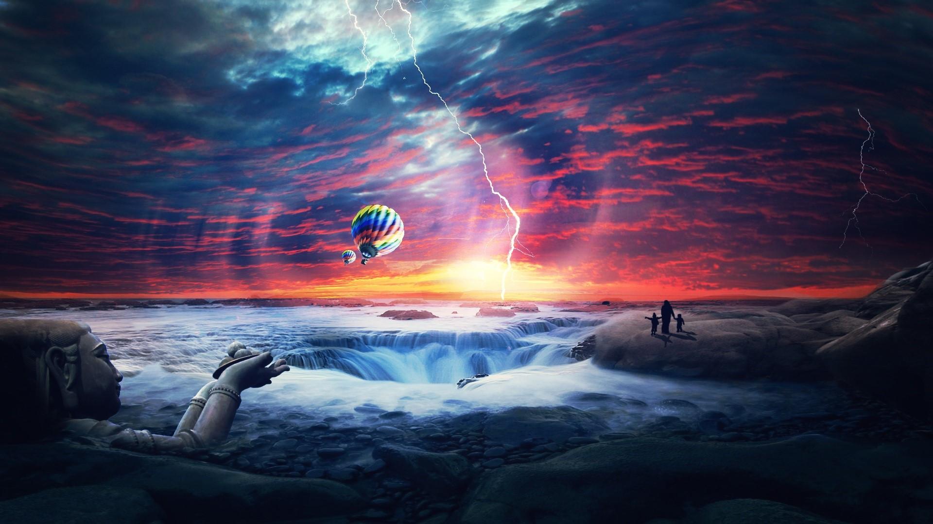 Wallpaper Apocalyptic sea