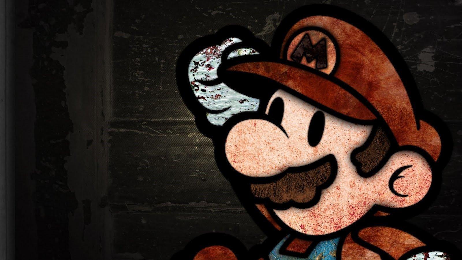 Wallpaper Mario Bros in textures