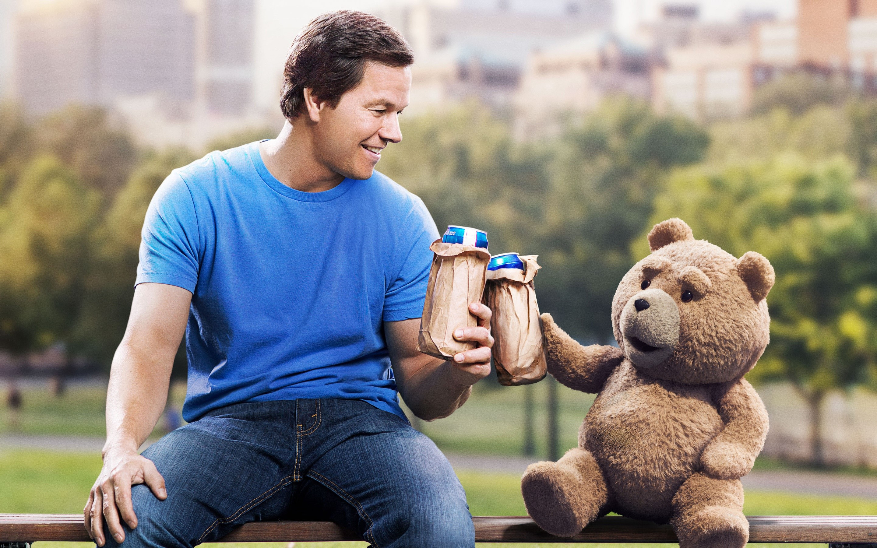 Wallpaper Mark Wahlberg on Ted 2
