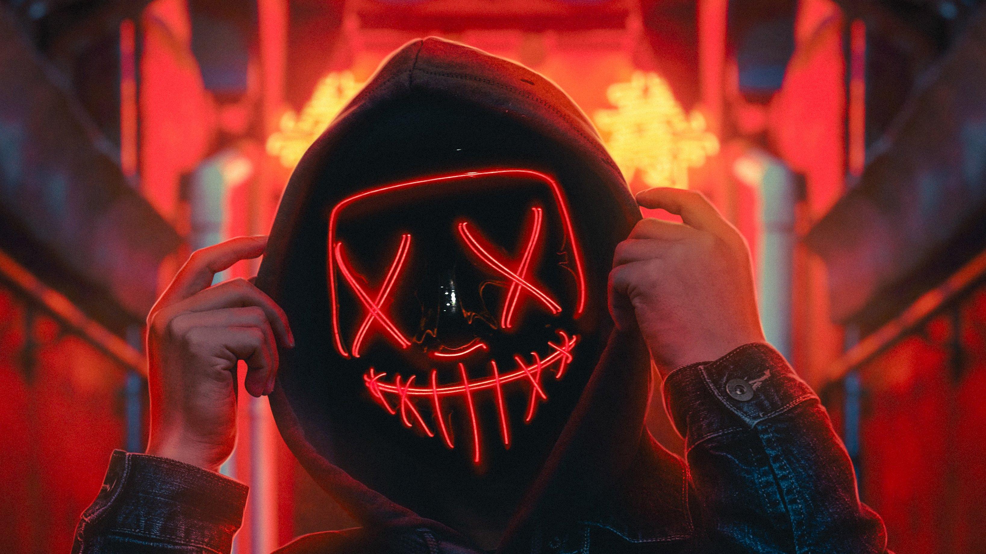 Fondos de pantalla Mascara Anónimo de neón