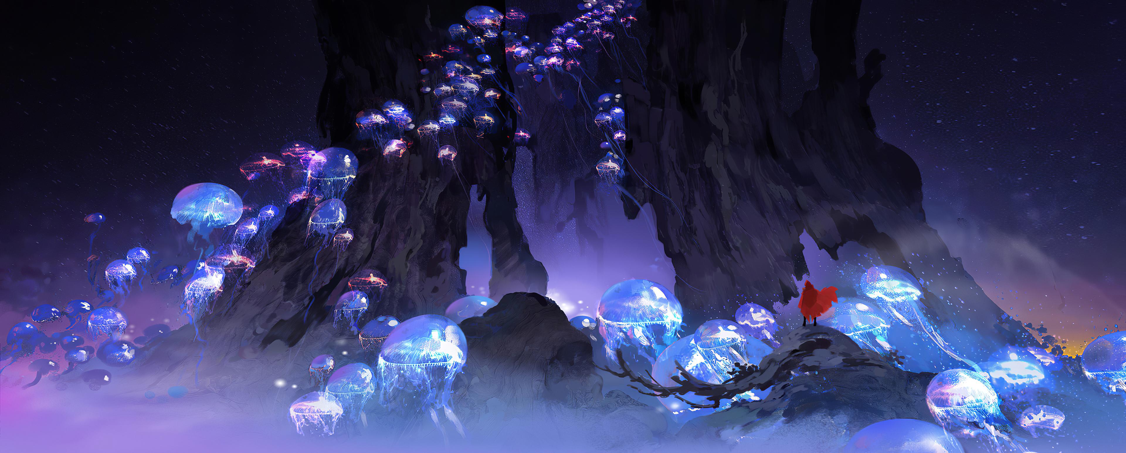 Fondos de pantalla Medusas brillantes Artwork