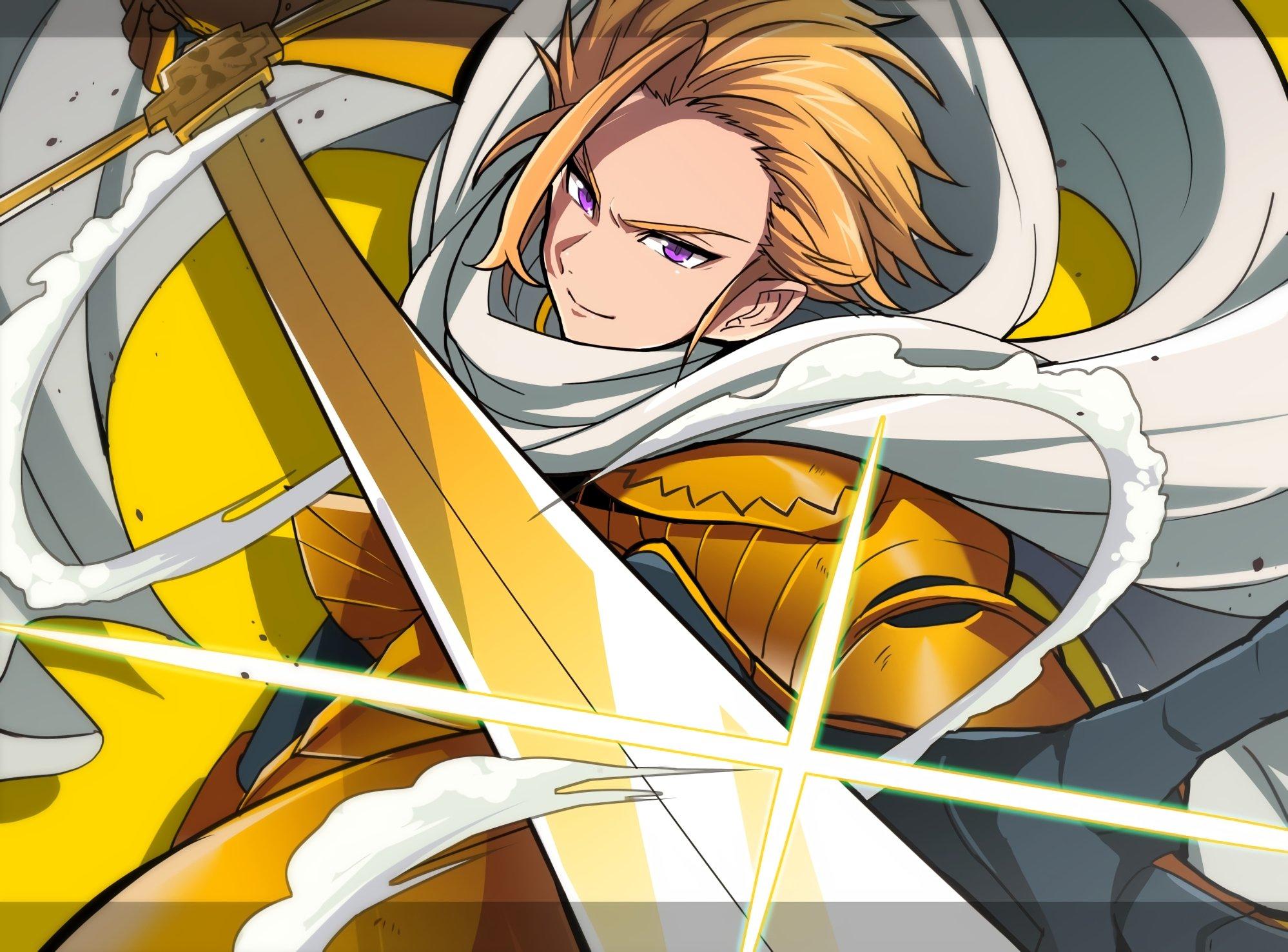 Anime Wallpaper Meriodasu with sword from The Seven Deadly Sins