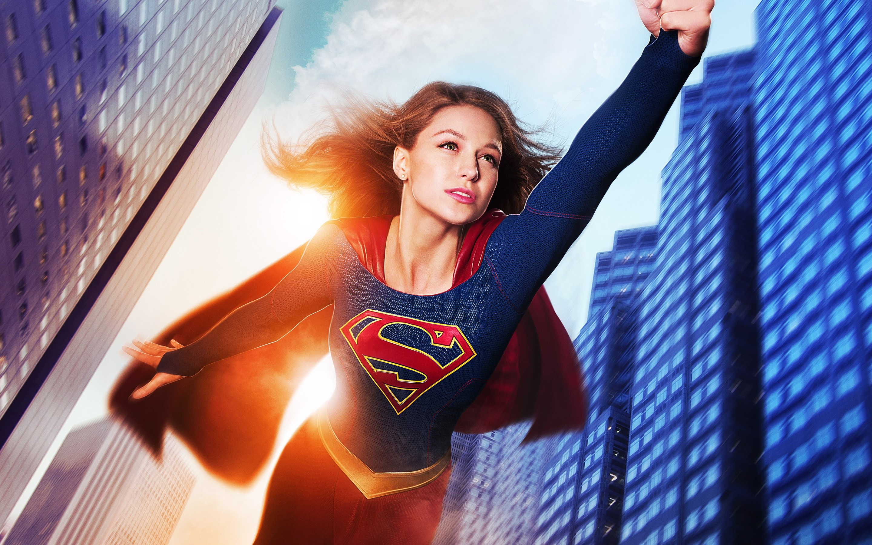 Wallpaper Melissa Benoist as Supergirl