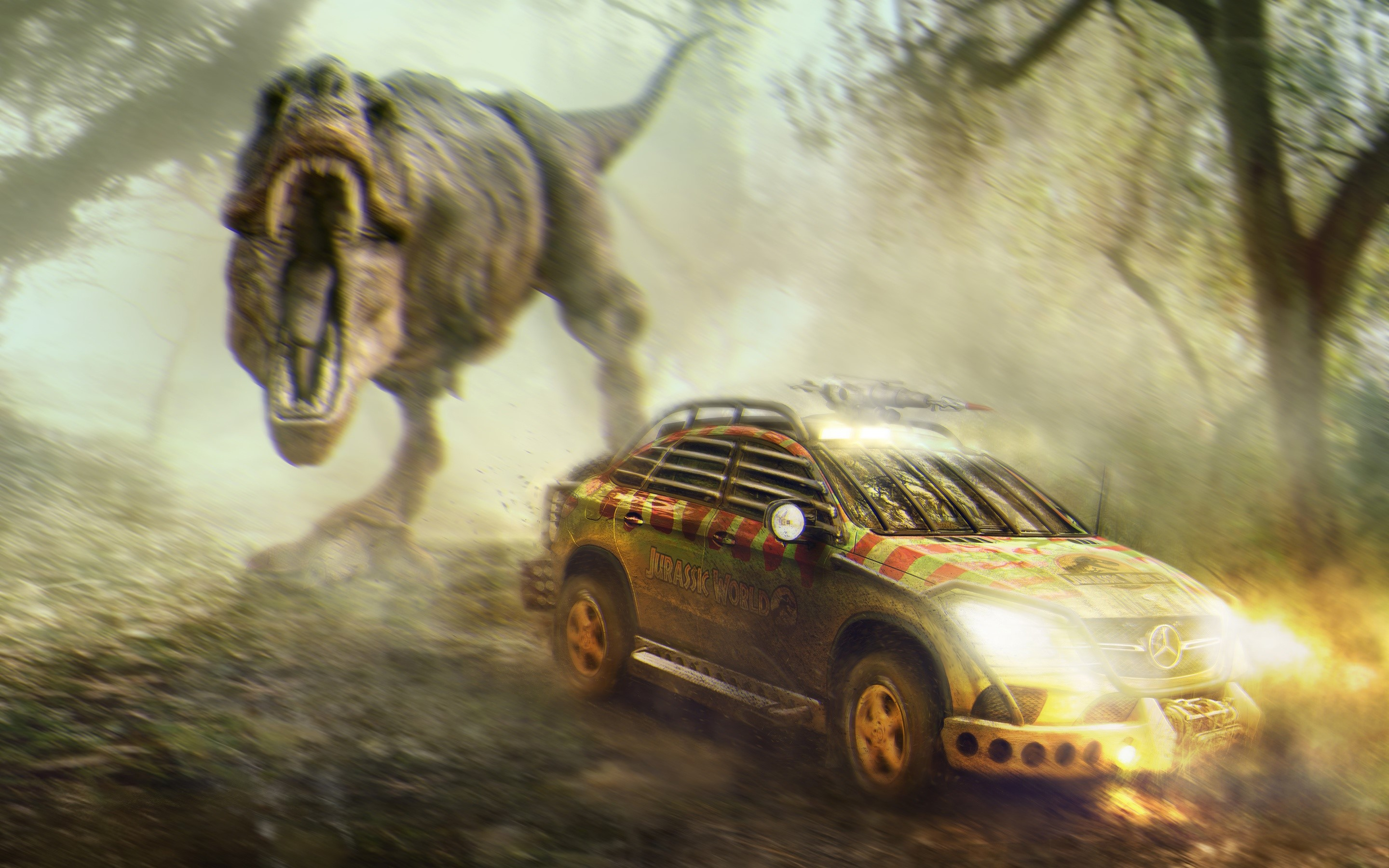 Wallpaper Mercedes Benz GLE coupe from Jurassic World