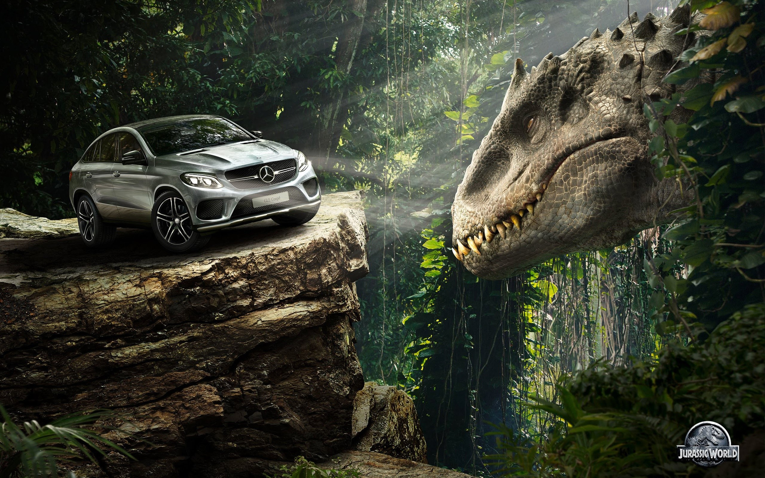 Wallpaper Mercedes Benz GLE Coupe in Jurassic World