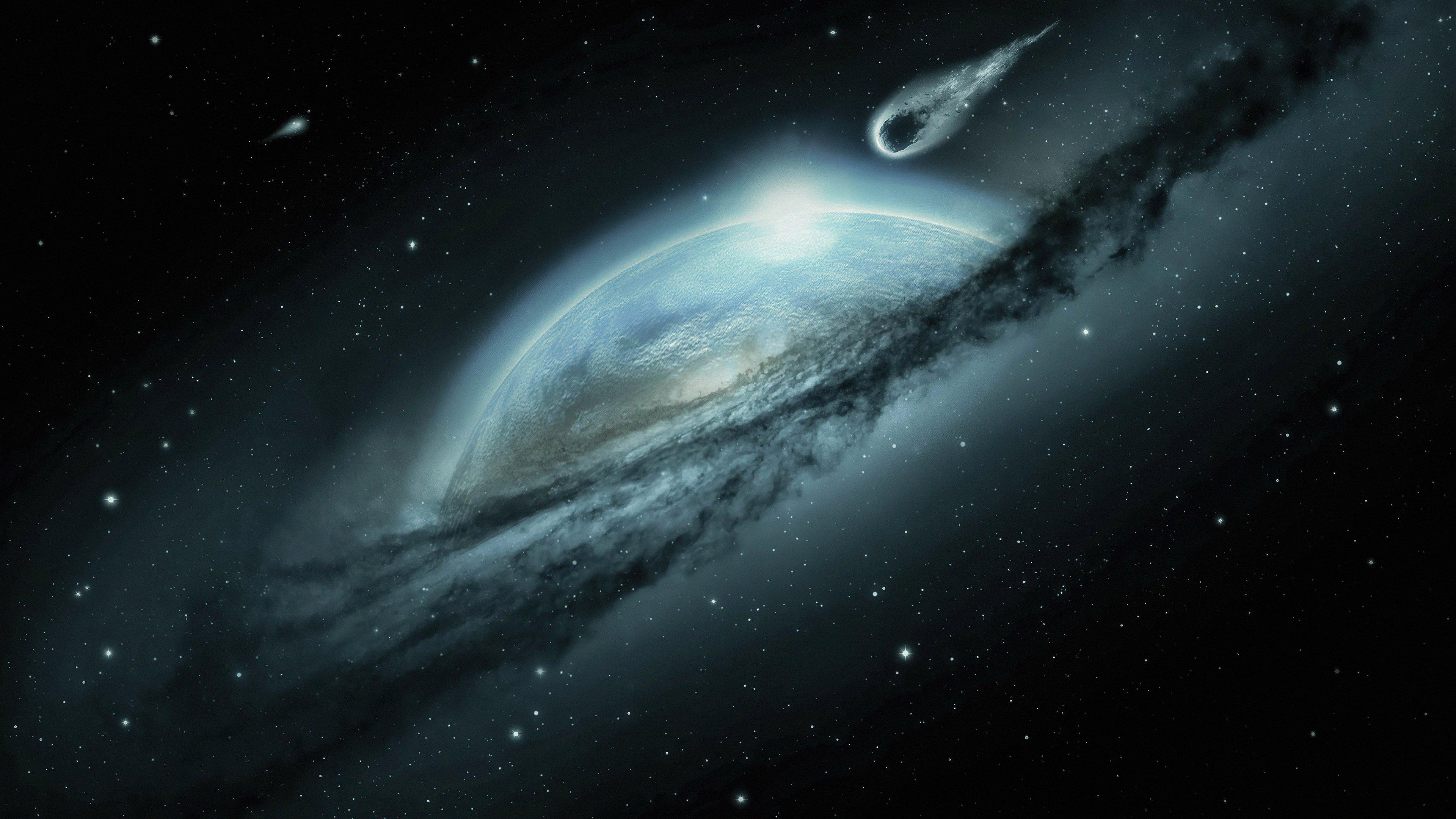 Fondos de pantalla Meteorito acercandose a la tierra