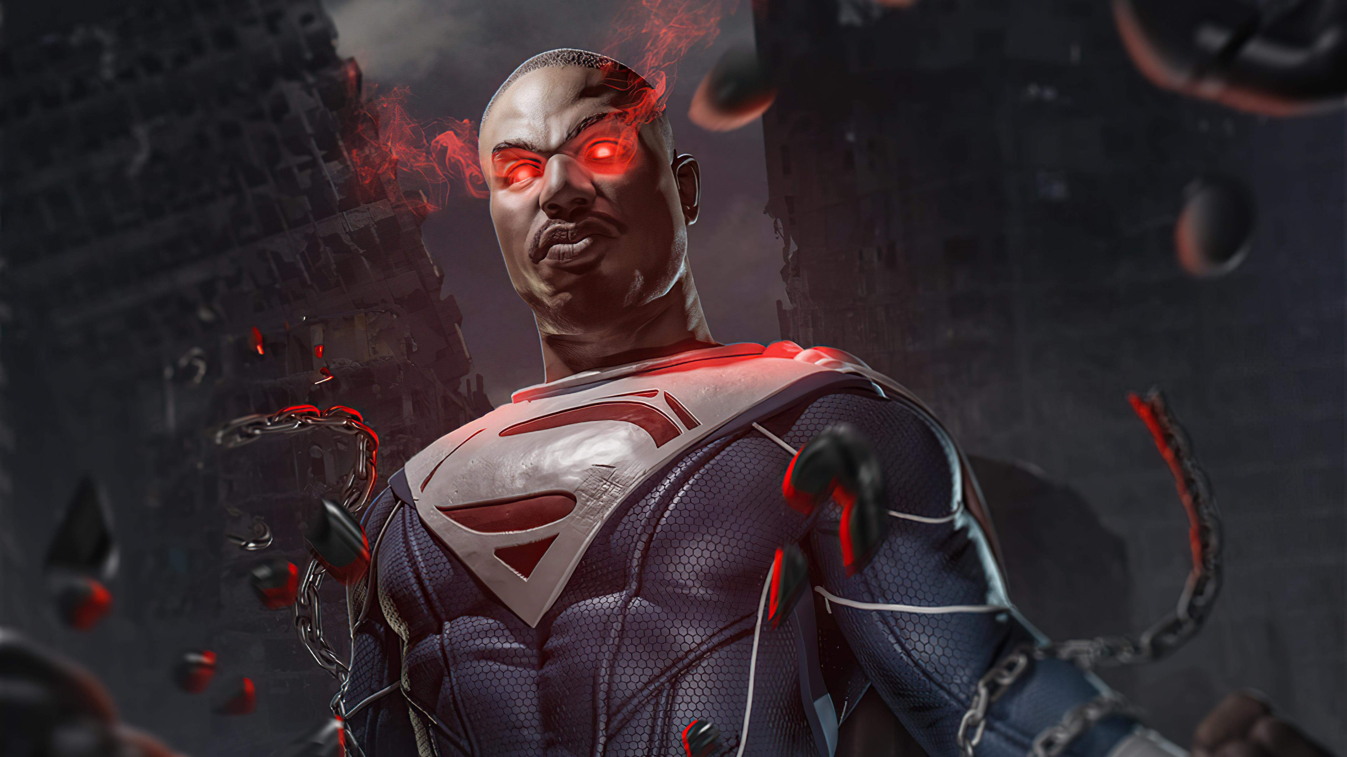 Wallpaper Michael B Jordan as Superman