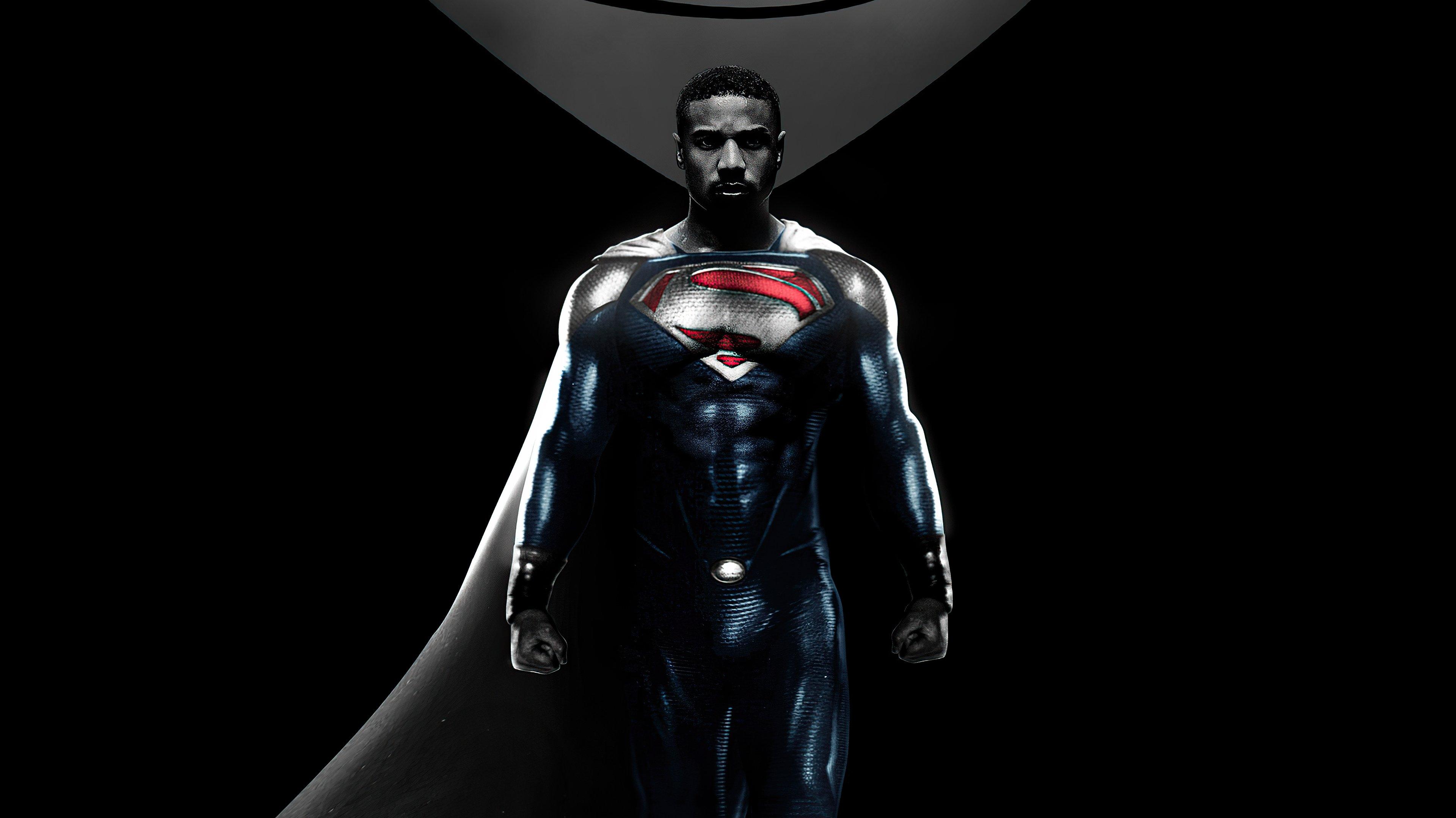Wallpaper Michael B Jordan como Val Zod Superman