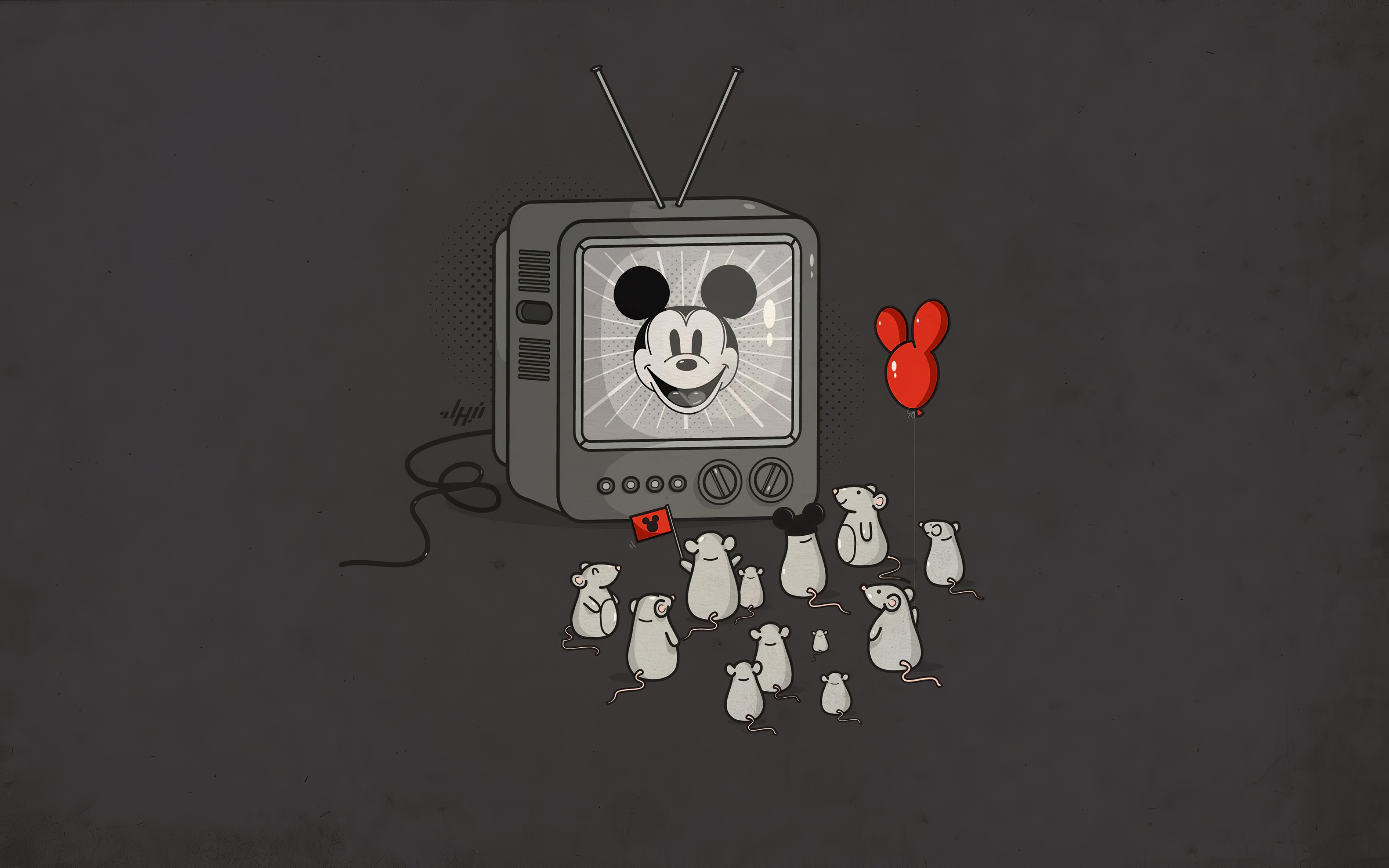 Wallpaper Mickey Mouse in television