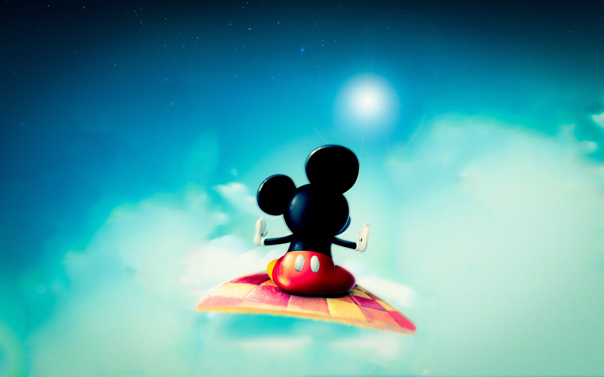 Wallpaper Mickey Mouse en una alfombra Images