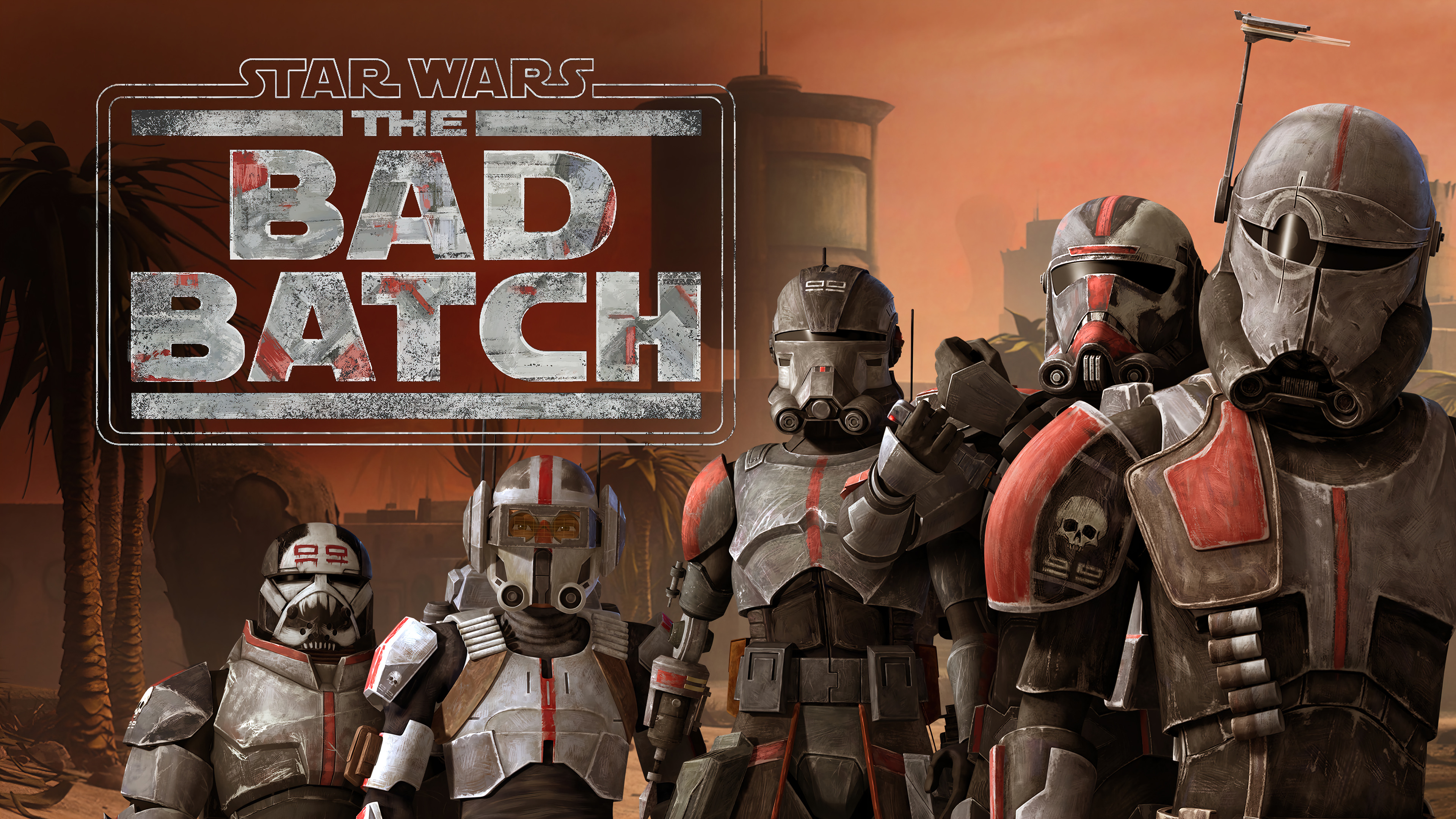 Wallpaper Star Wars The Bad Batch Members Clone Trooper