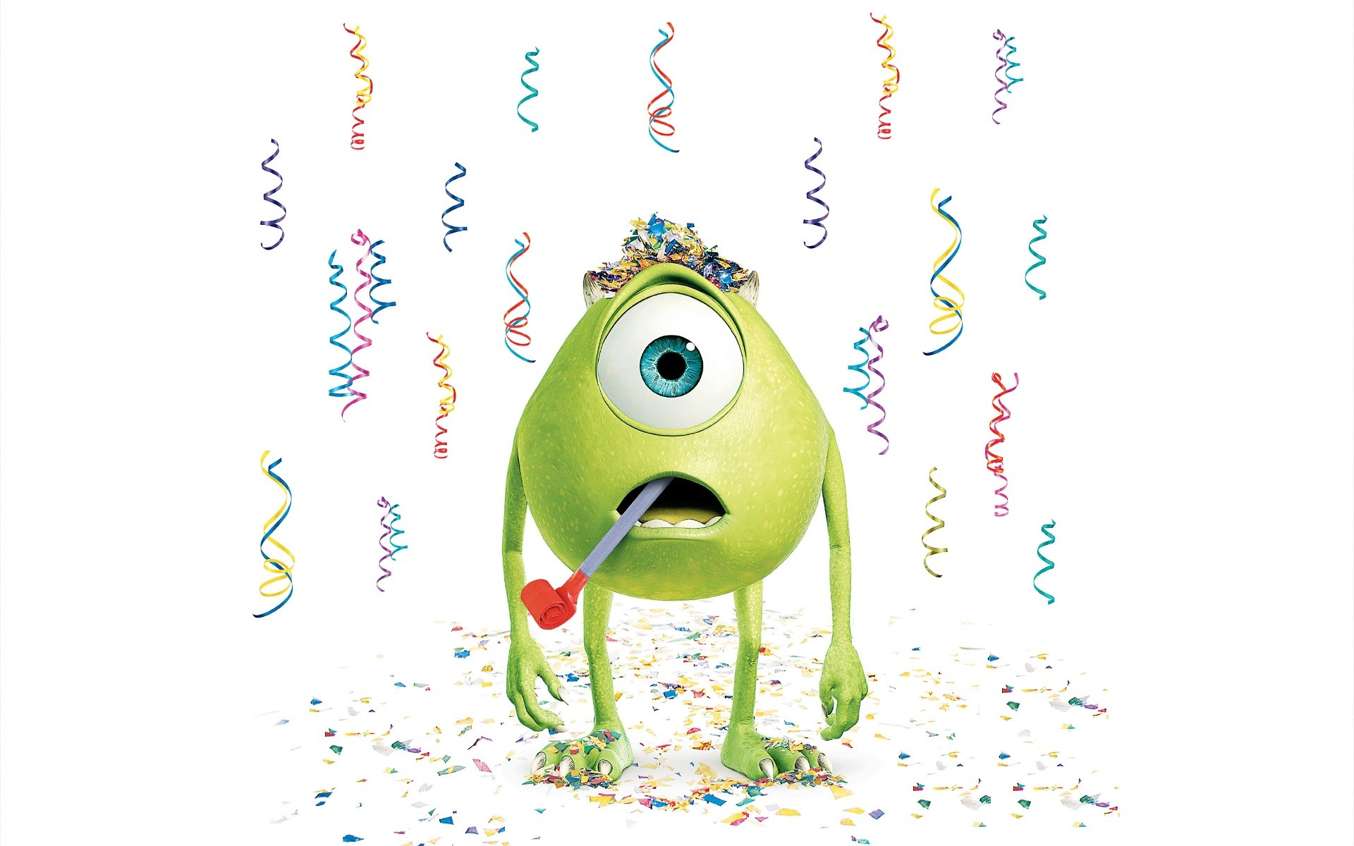 Wallpaper Mike Wazowski sorprendido