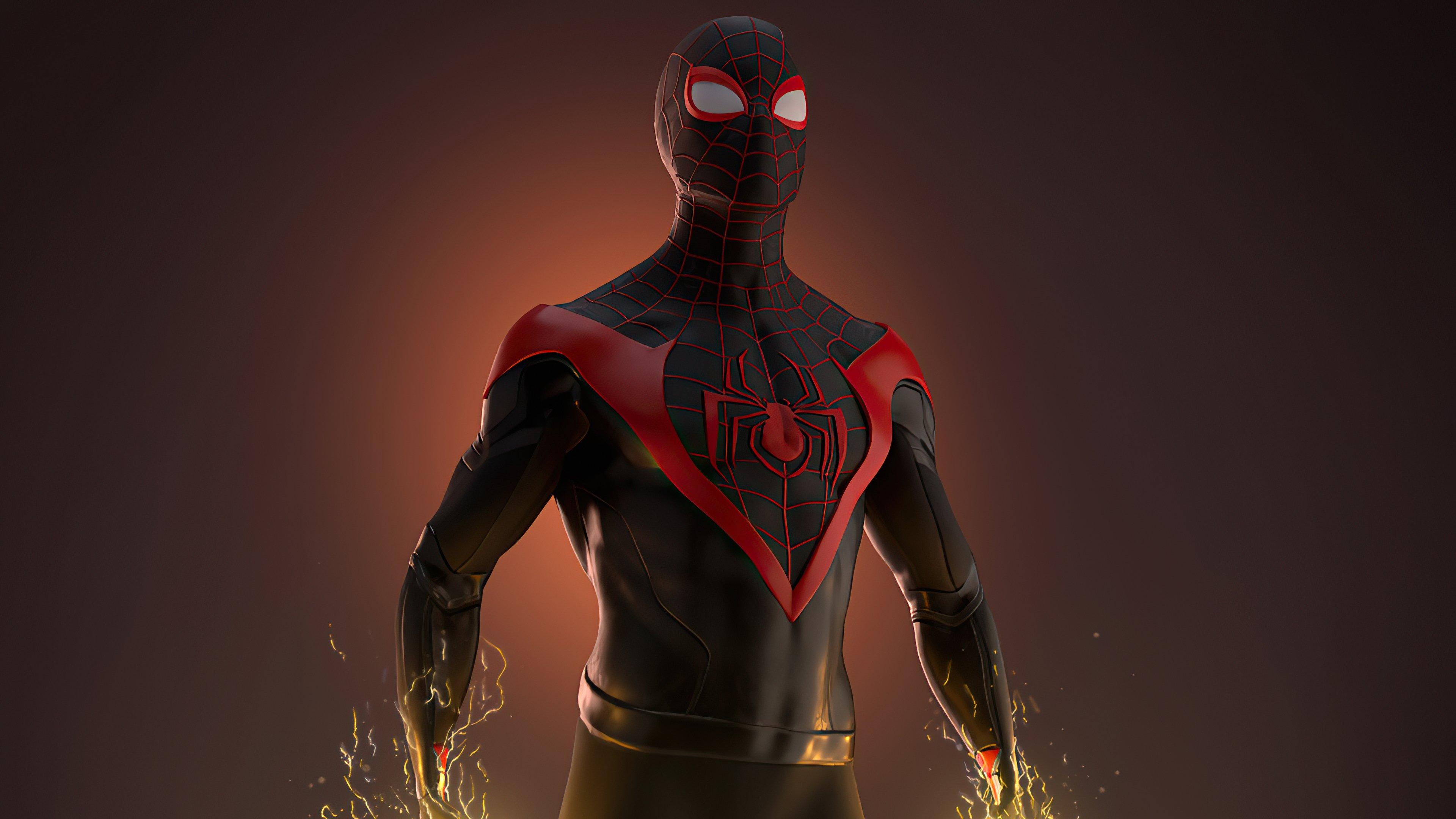 Wallpaper Miles Morales as Spiderman 2020