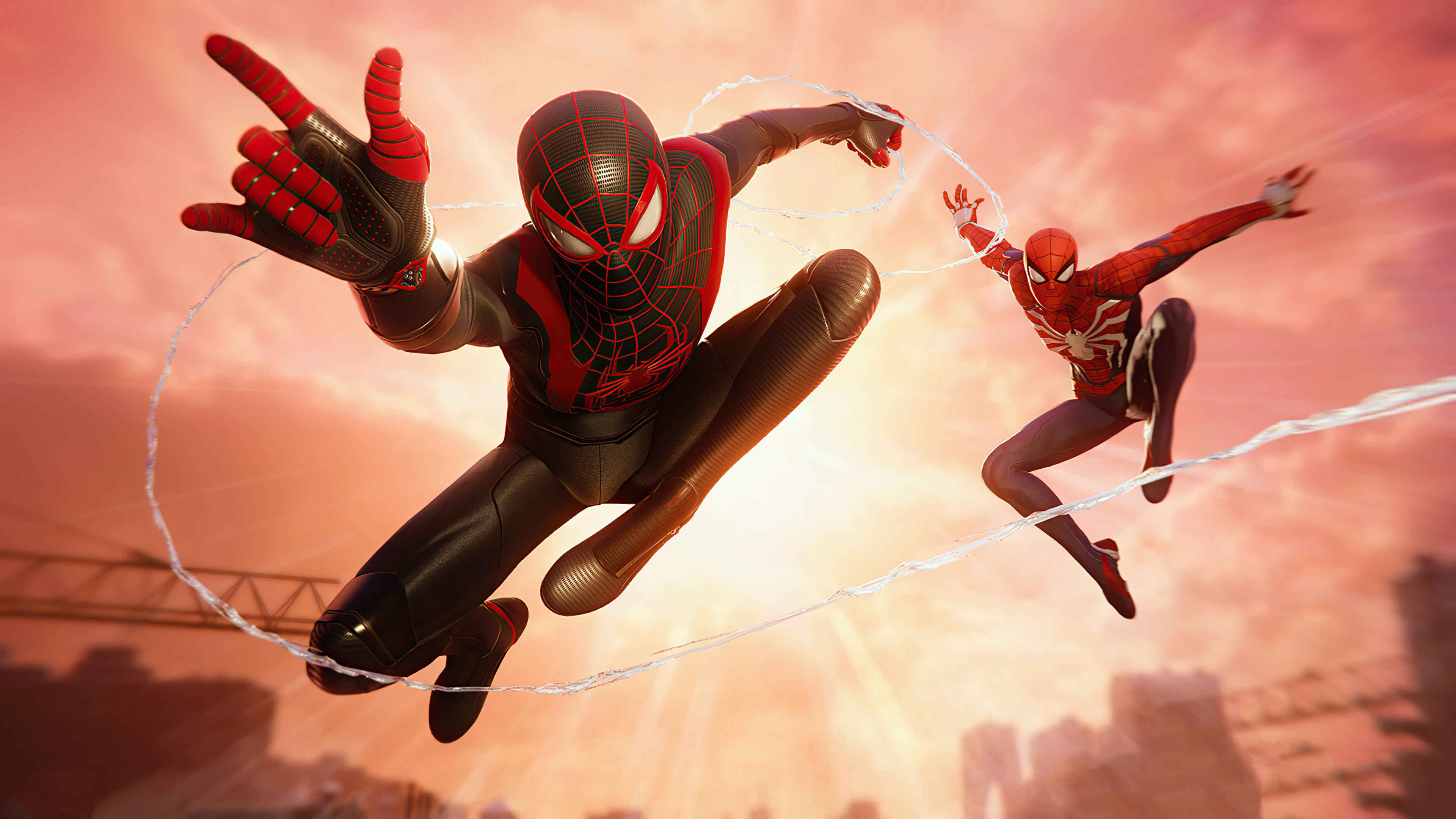 Wallpaper Miles Morales and Spiderman