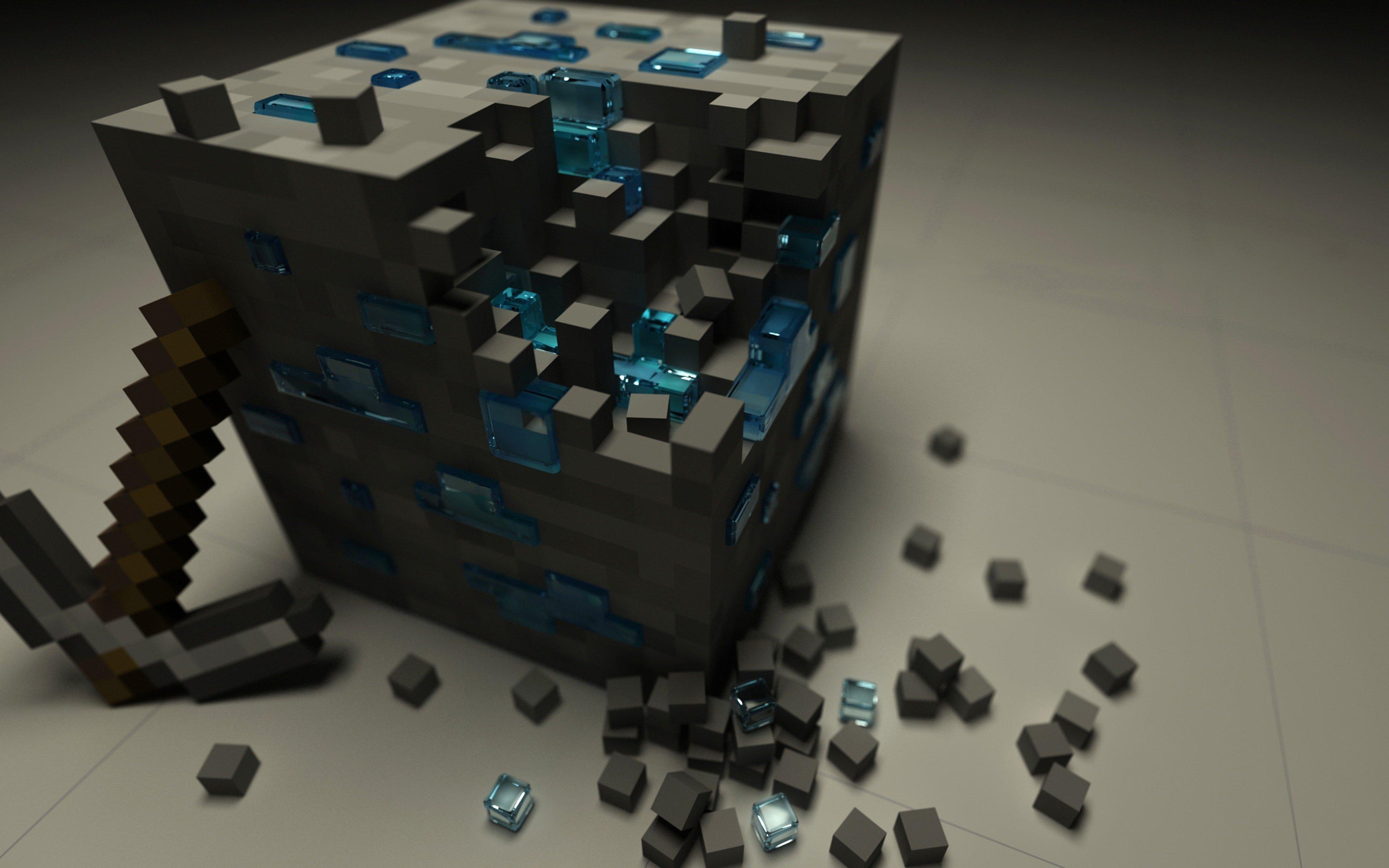 Wallpaper Minecraft 3D Cube