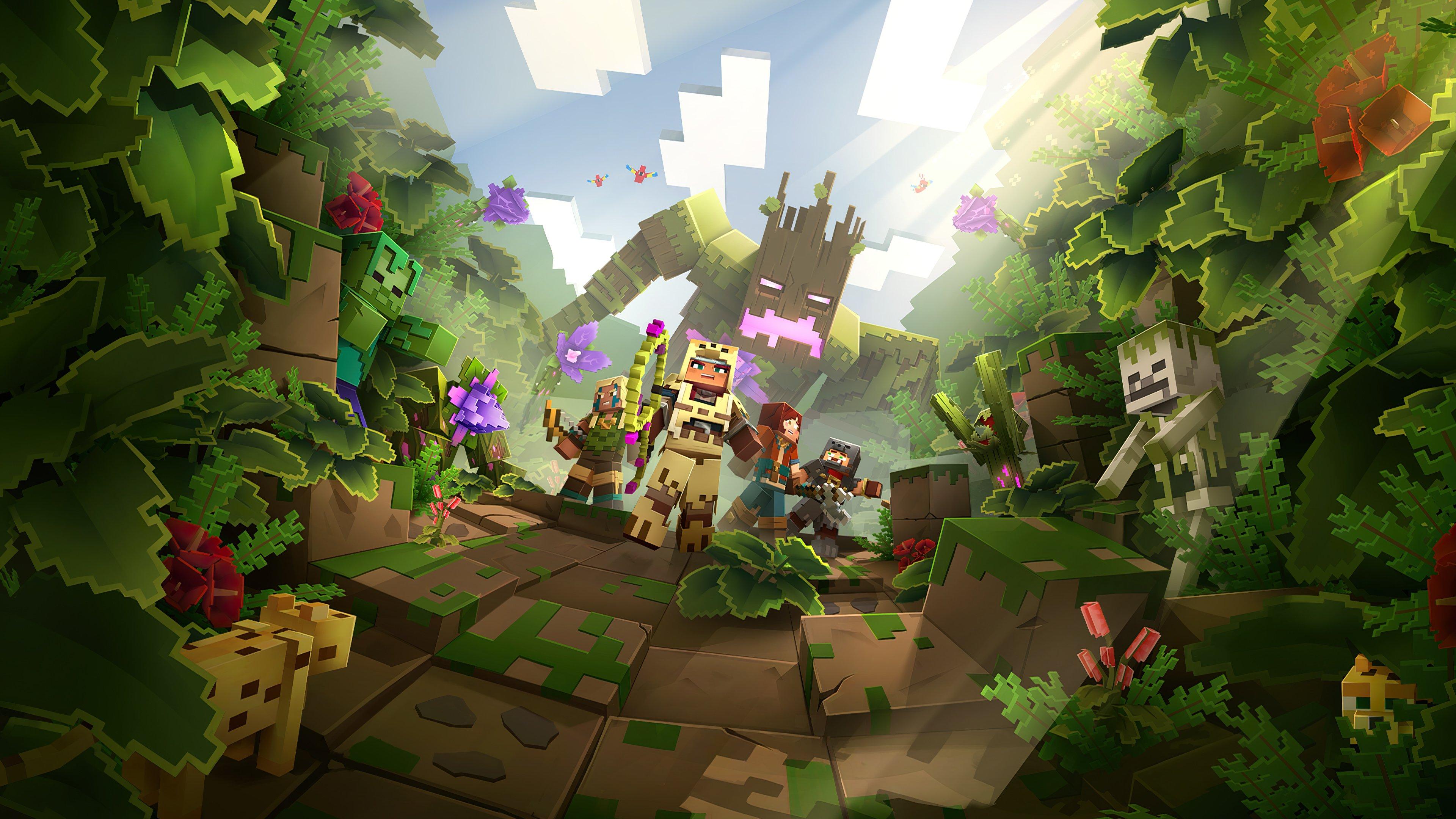 Fondos de pantalla Minecraft Dungens Jungle Awaens Hero