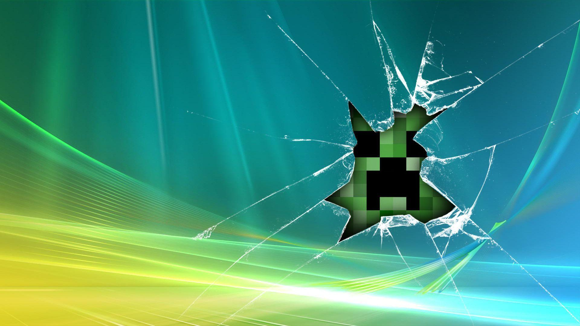 Fondos de pantalla Minecraft en espejo roto
