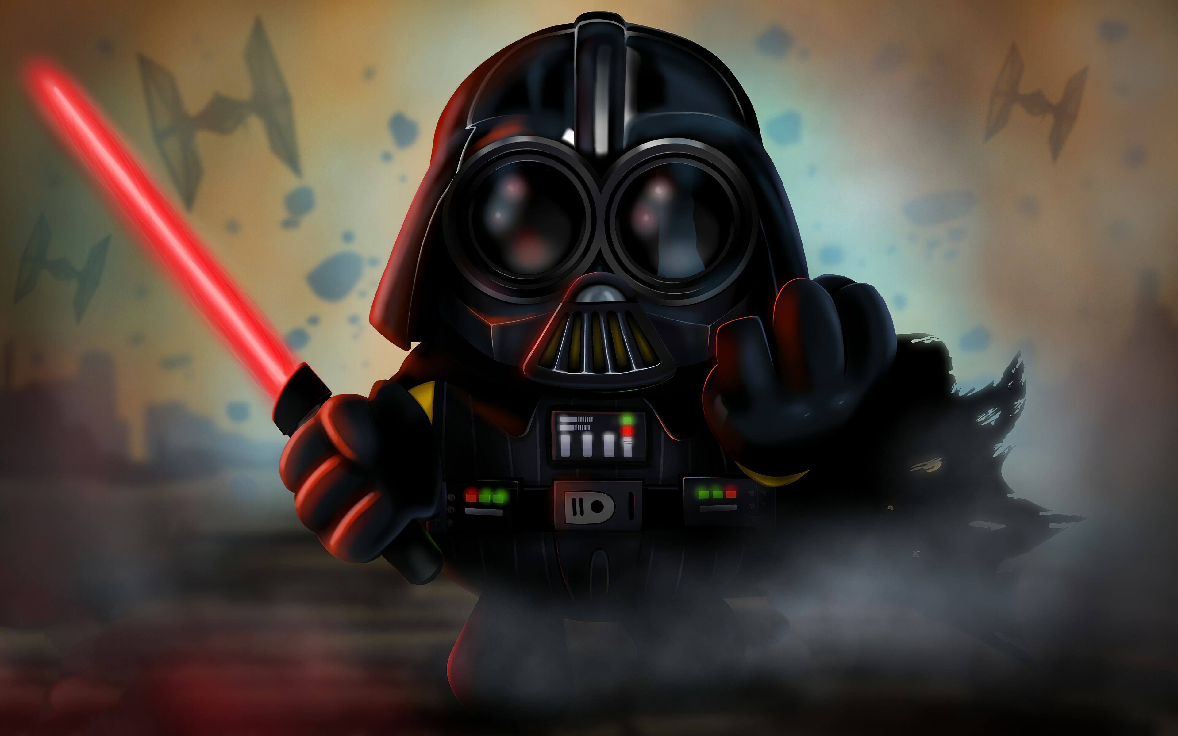 Fondos de pantalla Minion como Darth Vader