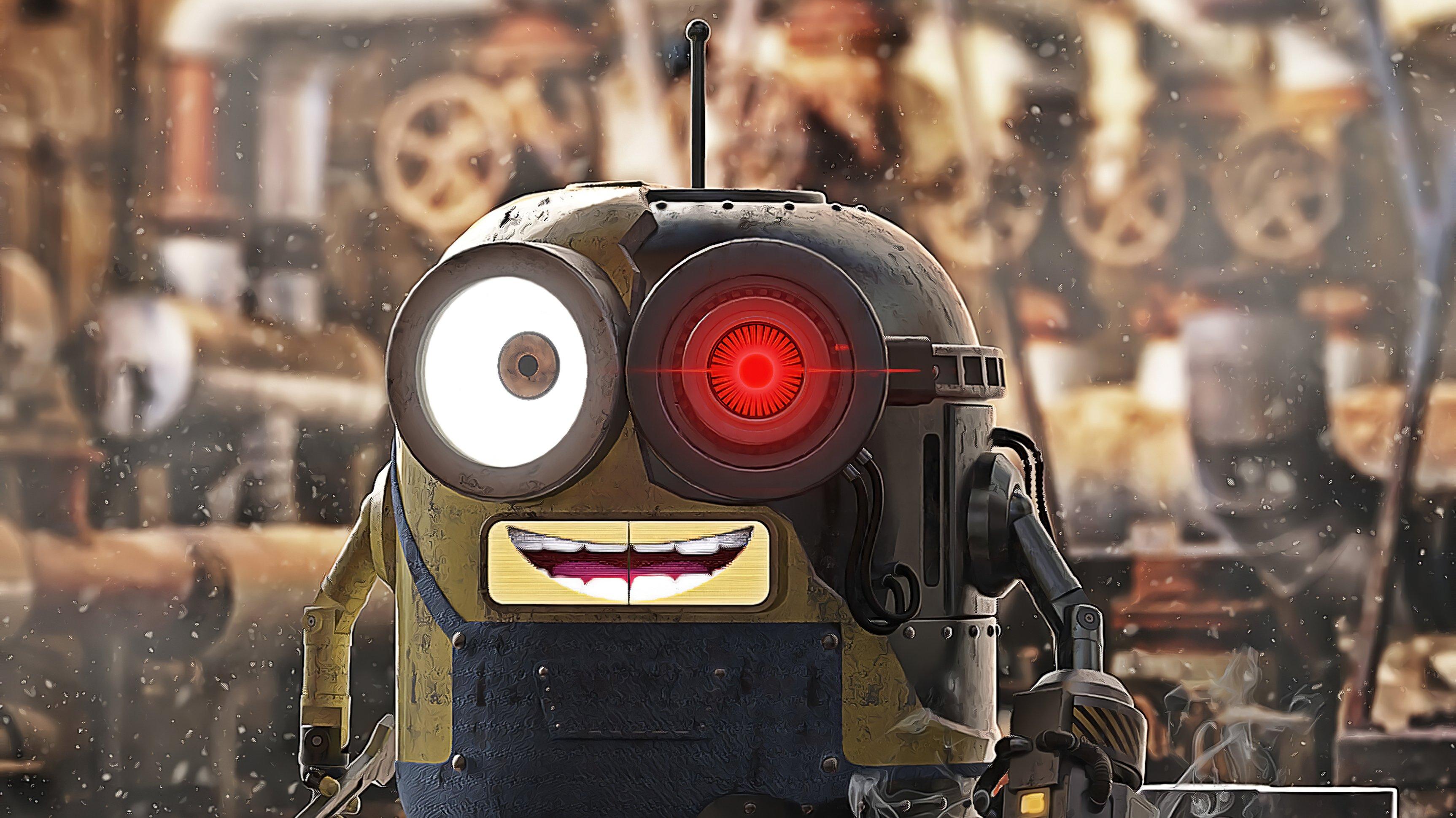 Fondos de pantalla Minion como Robot