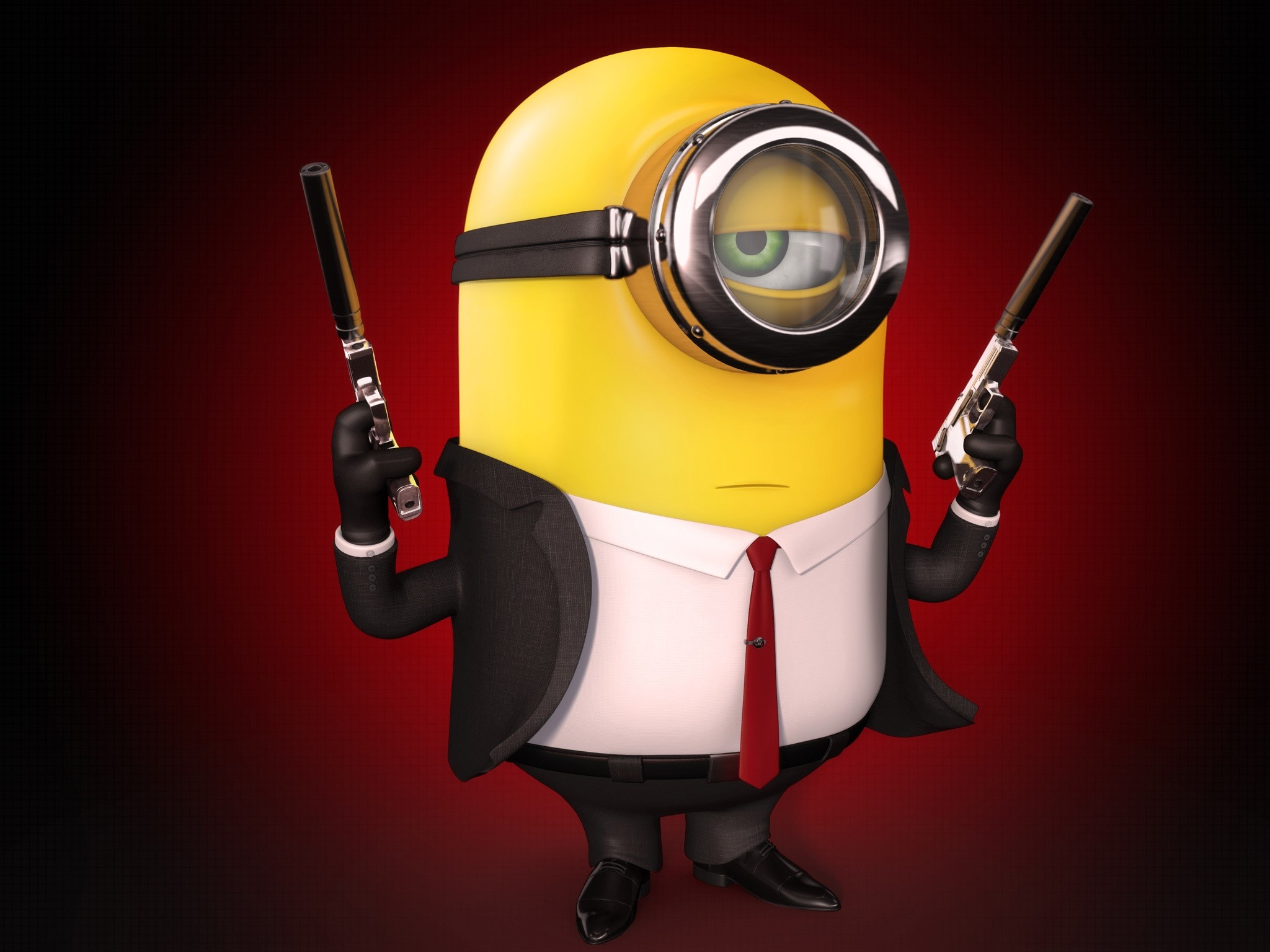 Wallpaper Minion Hitman