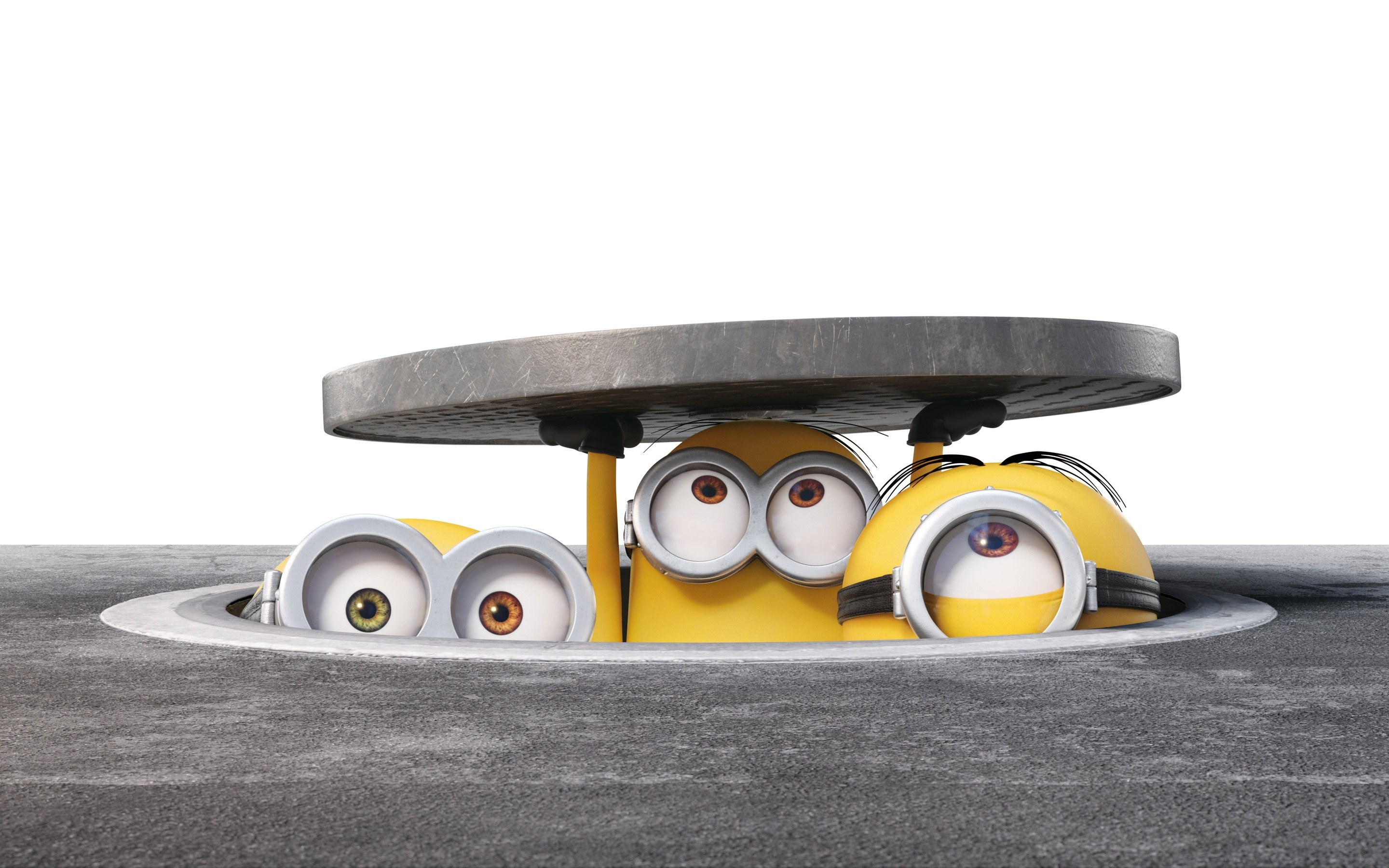 Wallpaper Minions in a sewer