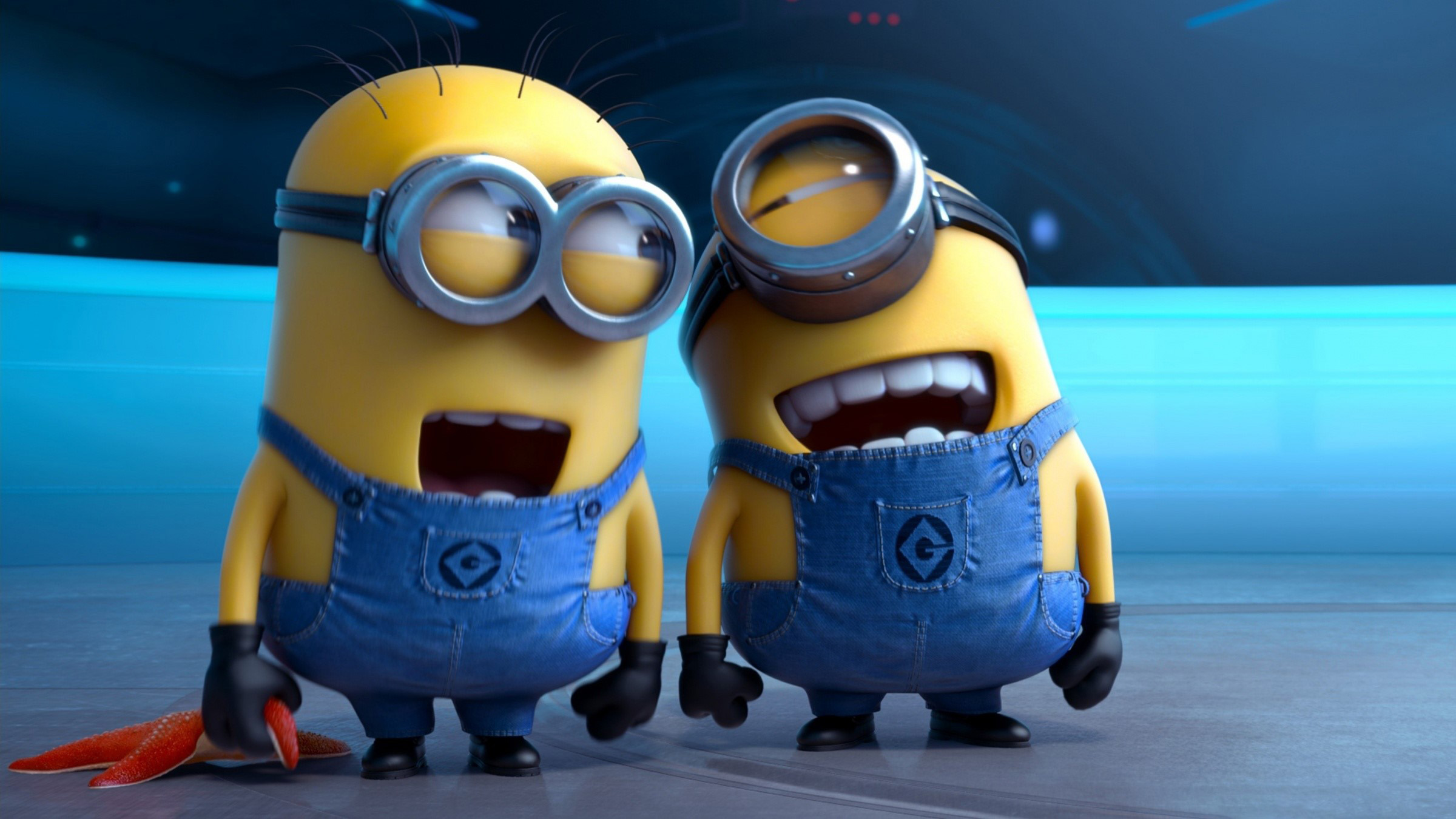 Wallpaper Minions laughing in My favorite villain 2