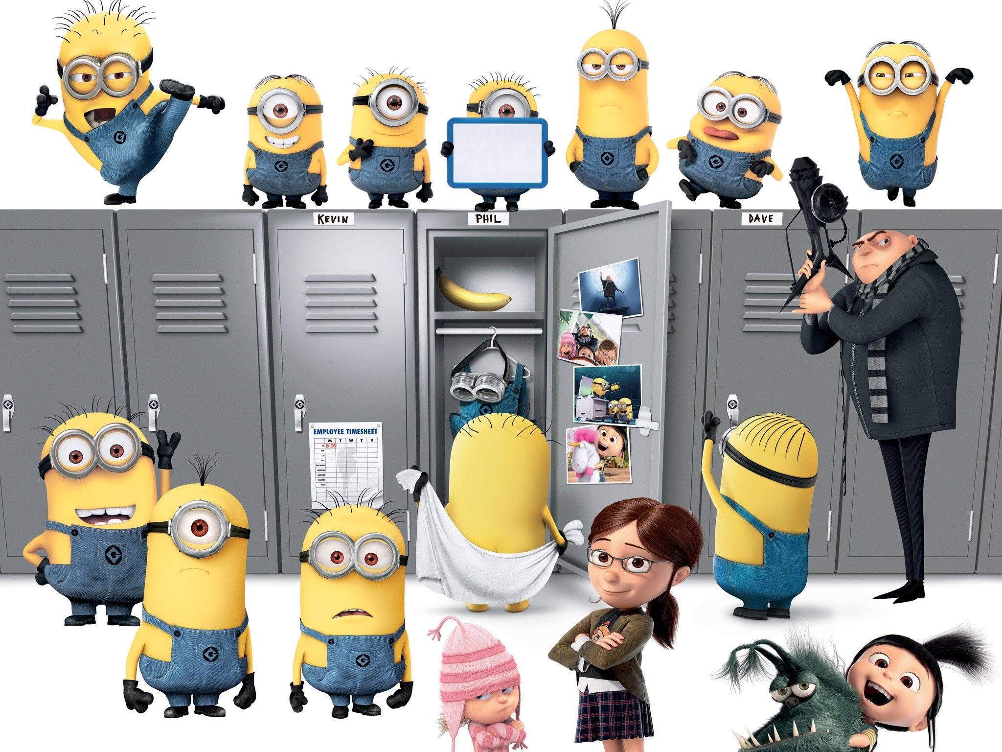Wallpaper Minions and Gru