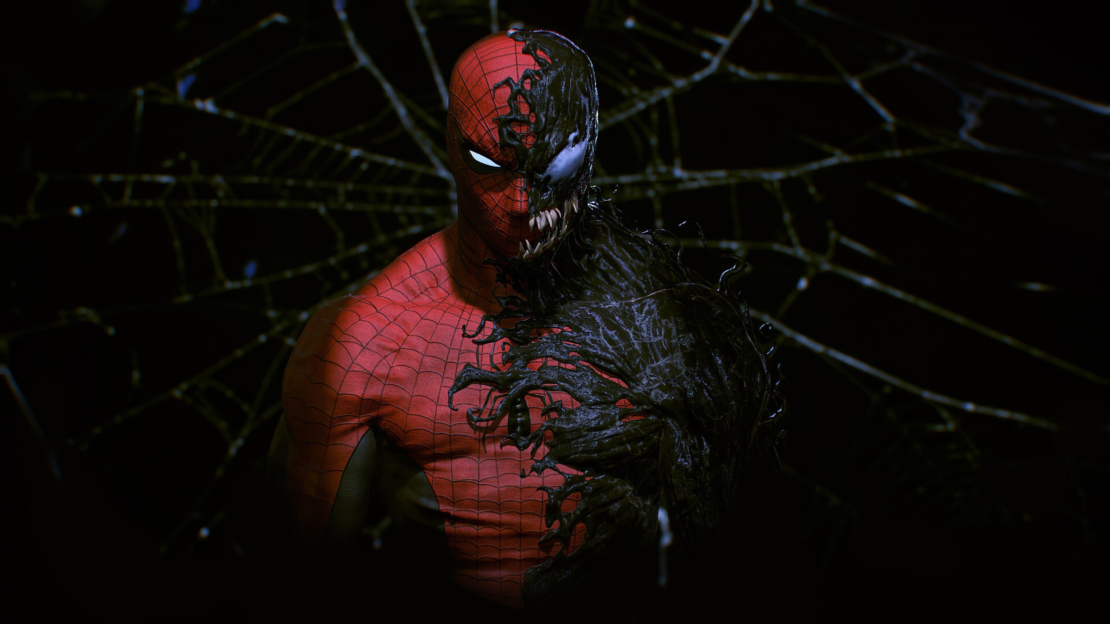 Fondos de pantalla Mitad Hombre Araña mitad Venom